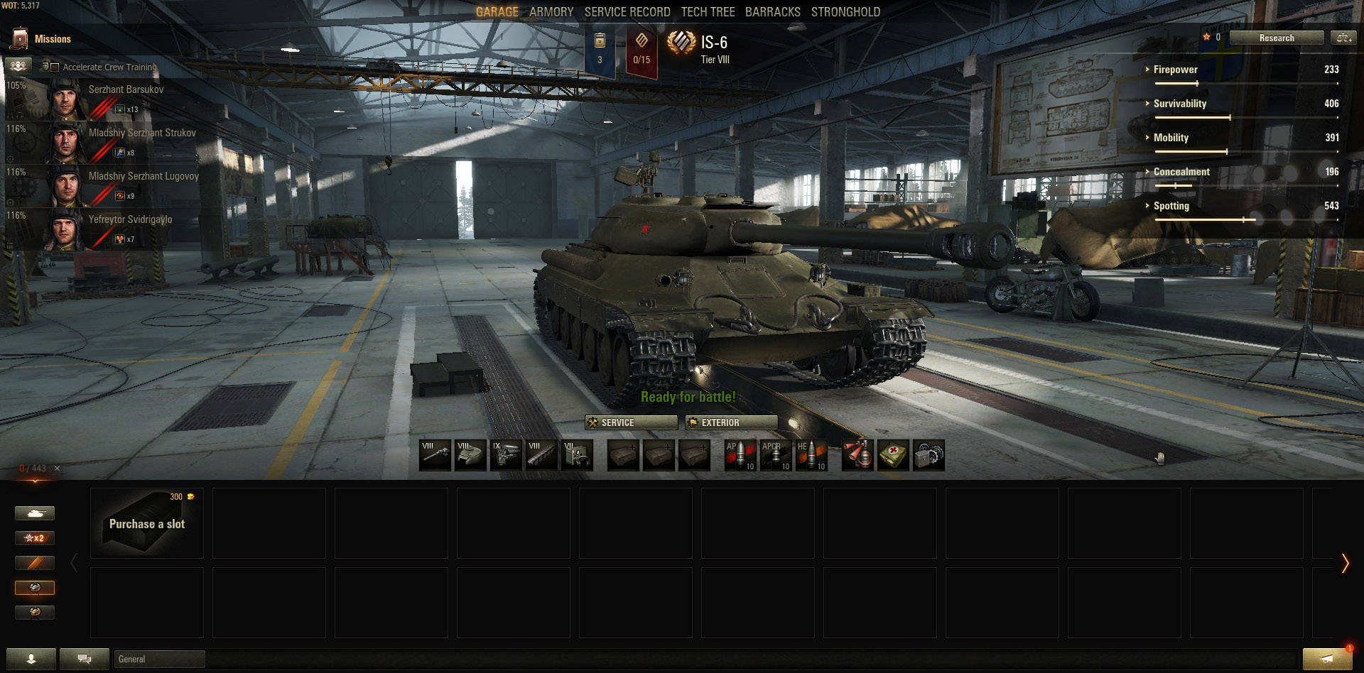 For everyone else, there's the IS-6, one of the most popular Premium tanks available. It boasts an incredible DPM and alpha damage, and high mobility!