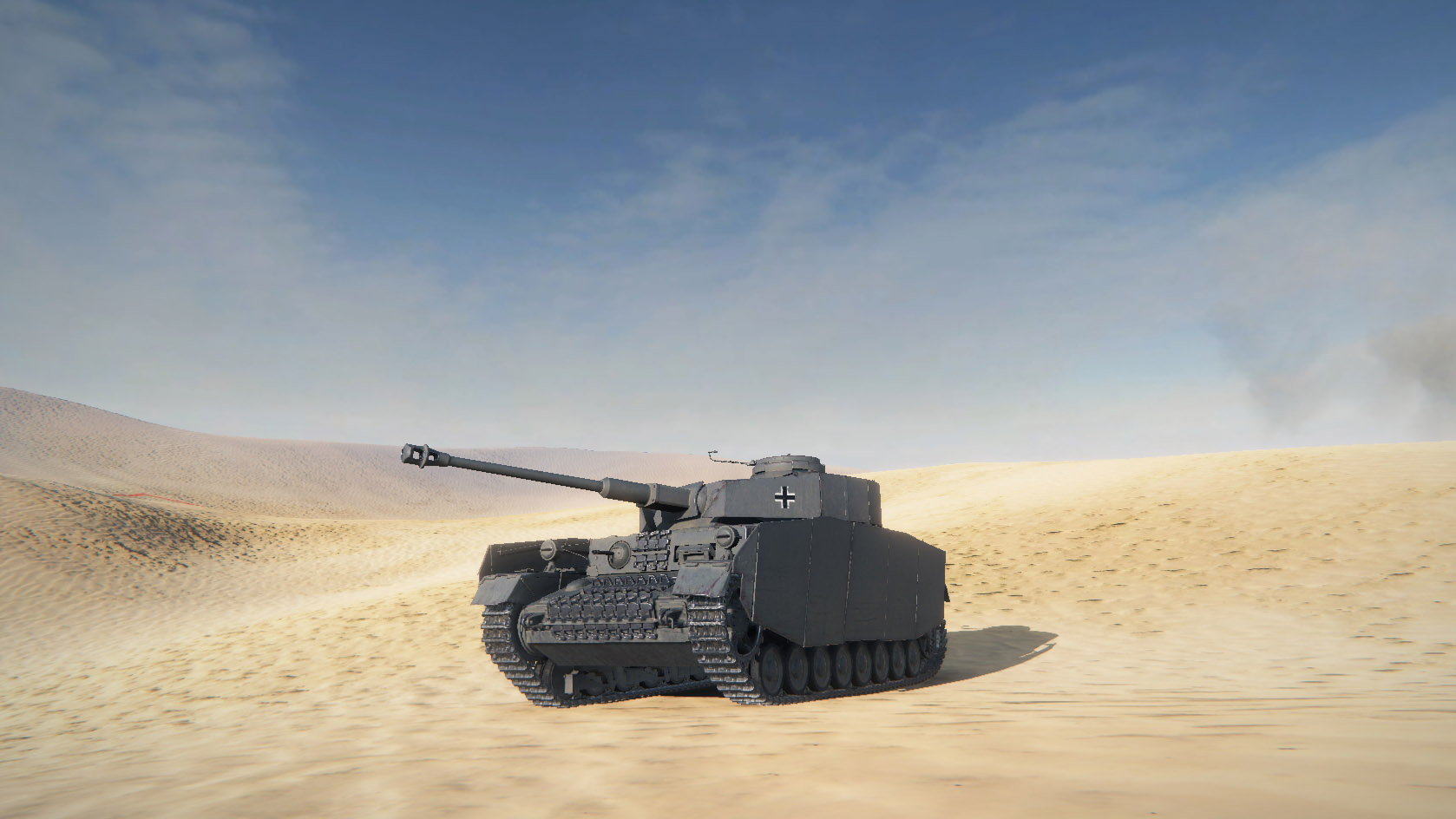 The Pz Kpfw IV Ausf H has an impressive amount of skirting armor protecting its tracks.
