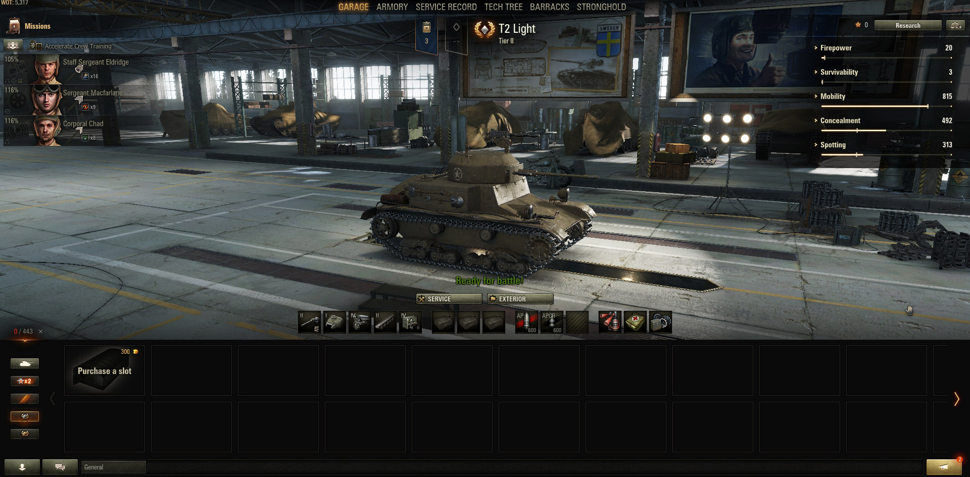 The T2 Light tank is one of the lowest tiered Premium tanks available.