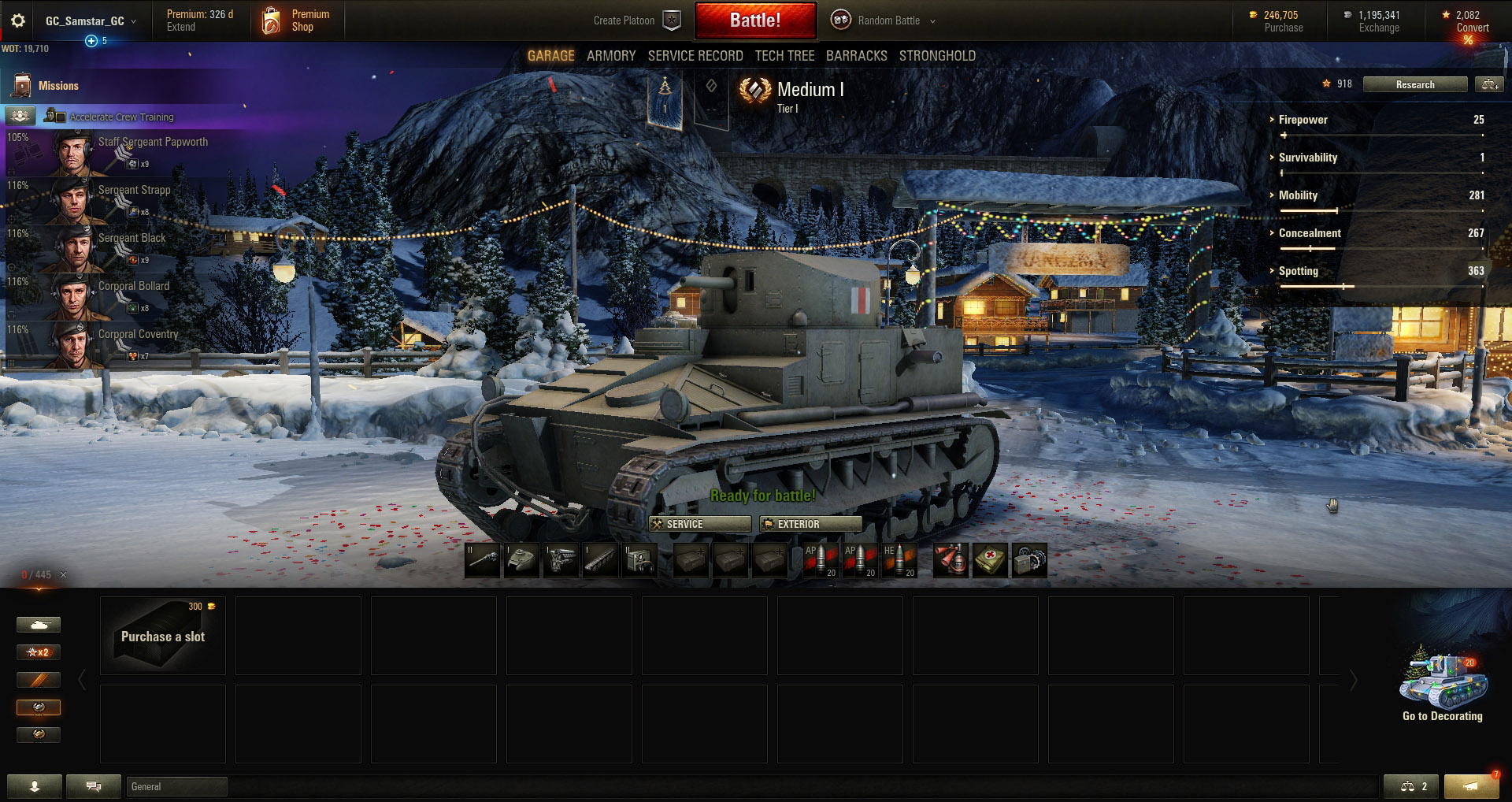 The Vickers Medium Mk 1 is the only Medium tank available in Tier 1.