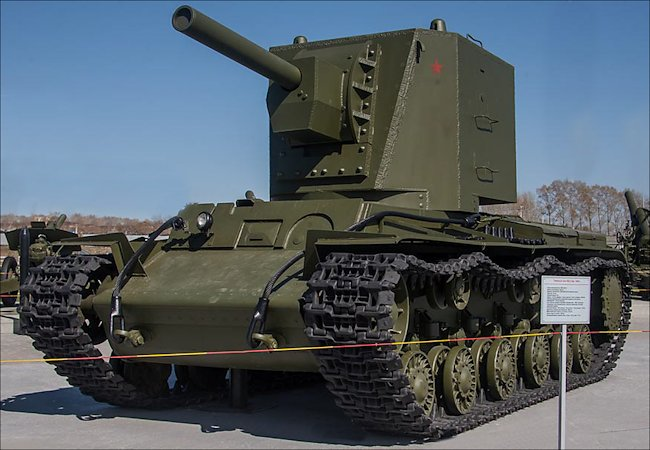 Thank you to Tank-Hunter.com for this image of the KV-2.