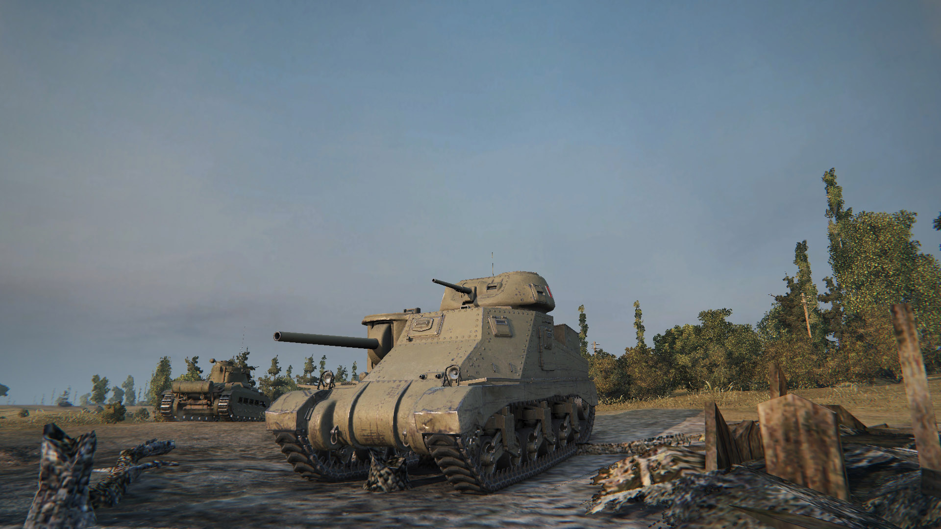 The British version of the M3, the Grant, is also named after an American general, but features a slightly lower turret and can mount the 6-pdr gun.