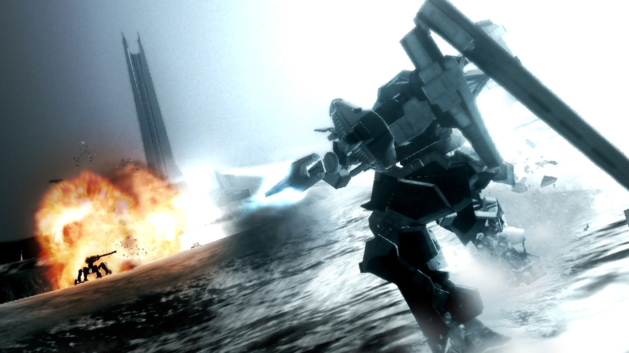 FromSoftware's Armored Core is one of the faster and explosive sub-genres within the mech genre.