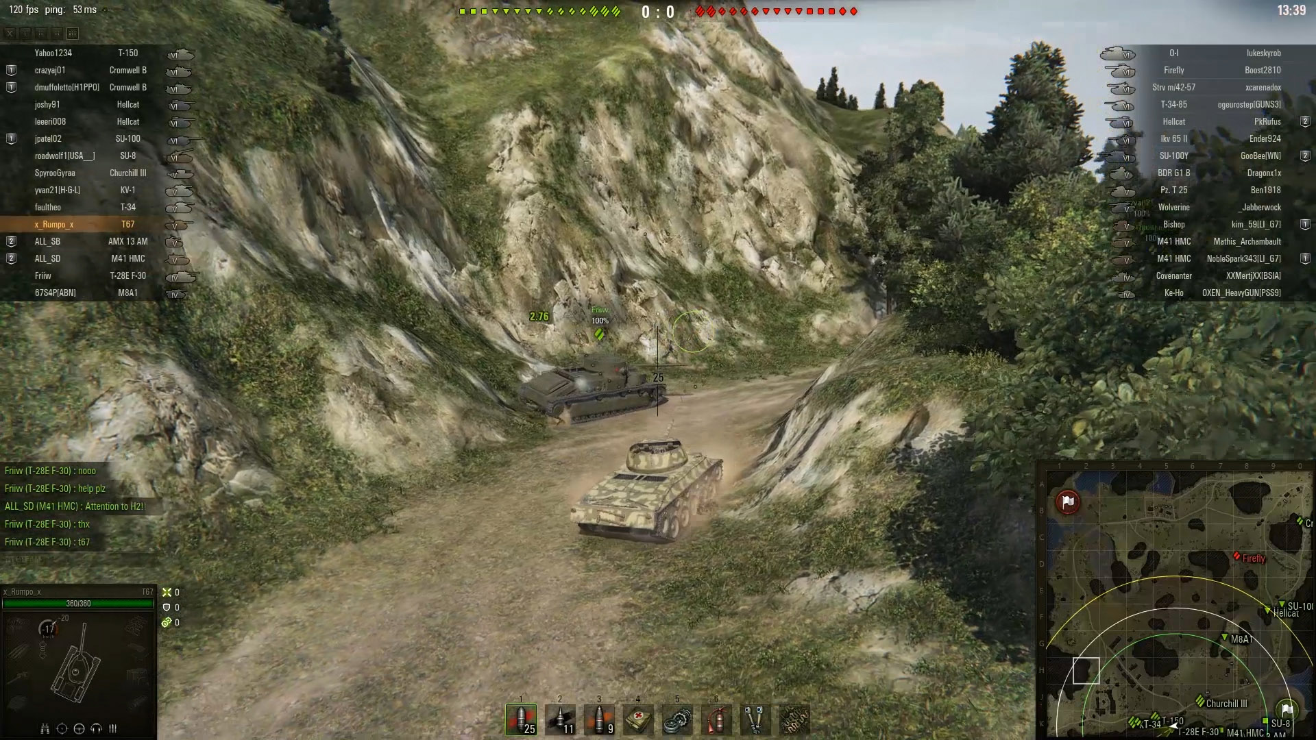 As you can see in the image above, when you help your teammate who has flipped their tank upside down, you'll be sure to receive a pleasant thank you, plus you'll ensure you have more tanks fighting toward victory!