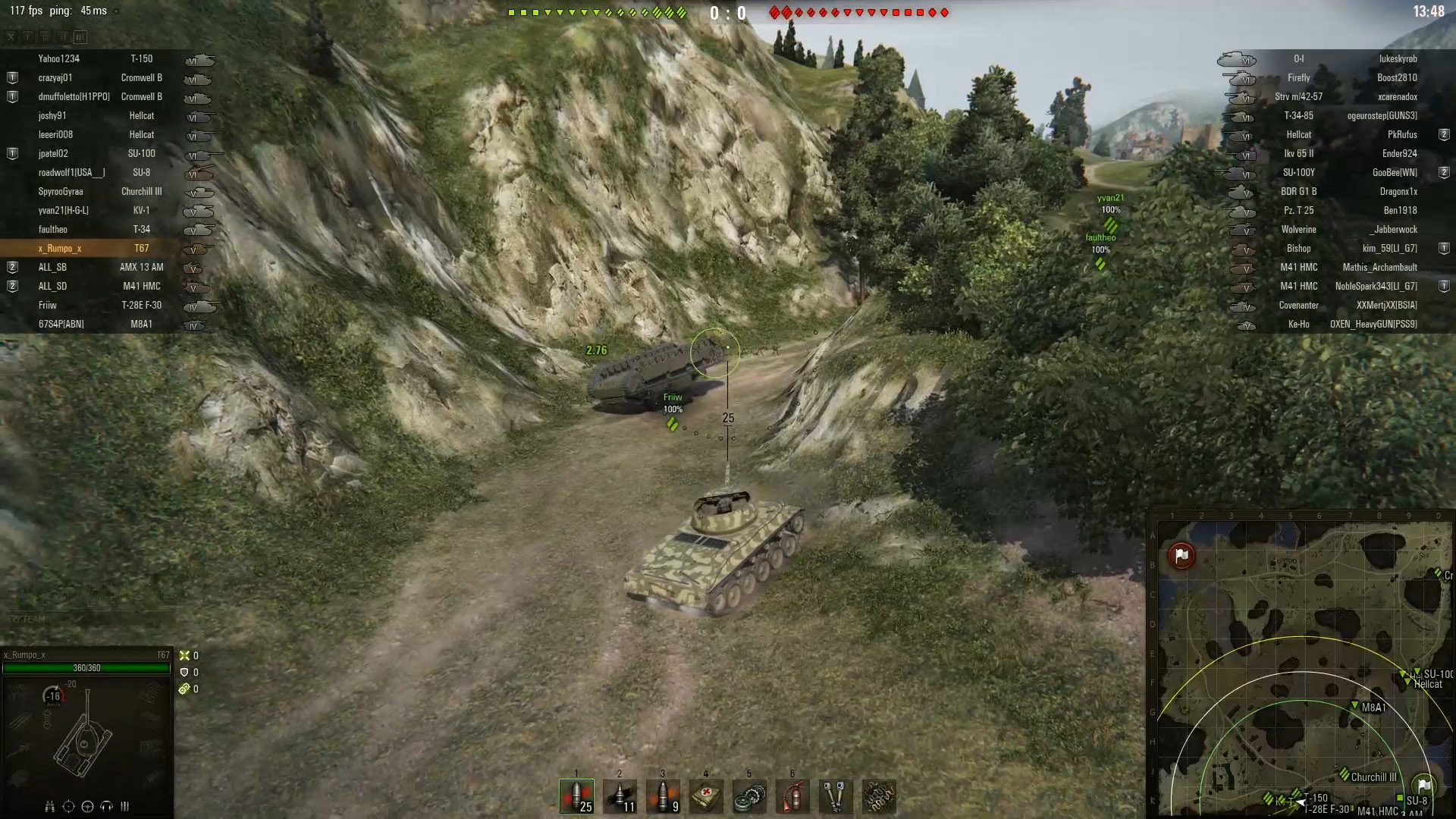 Flipping a tank is a rarity, but it certainly happens. Keep an eye out for flipped allies so you can help them get right-side up!