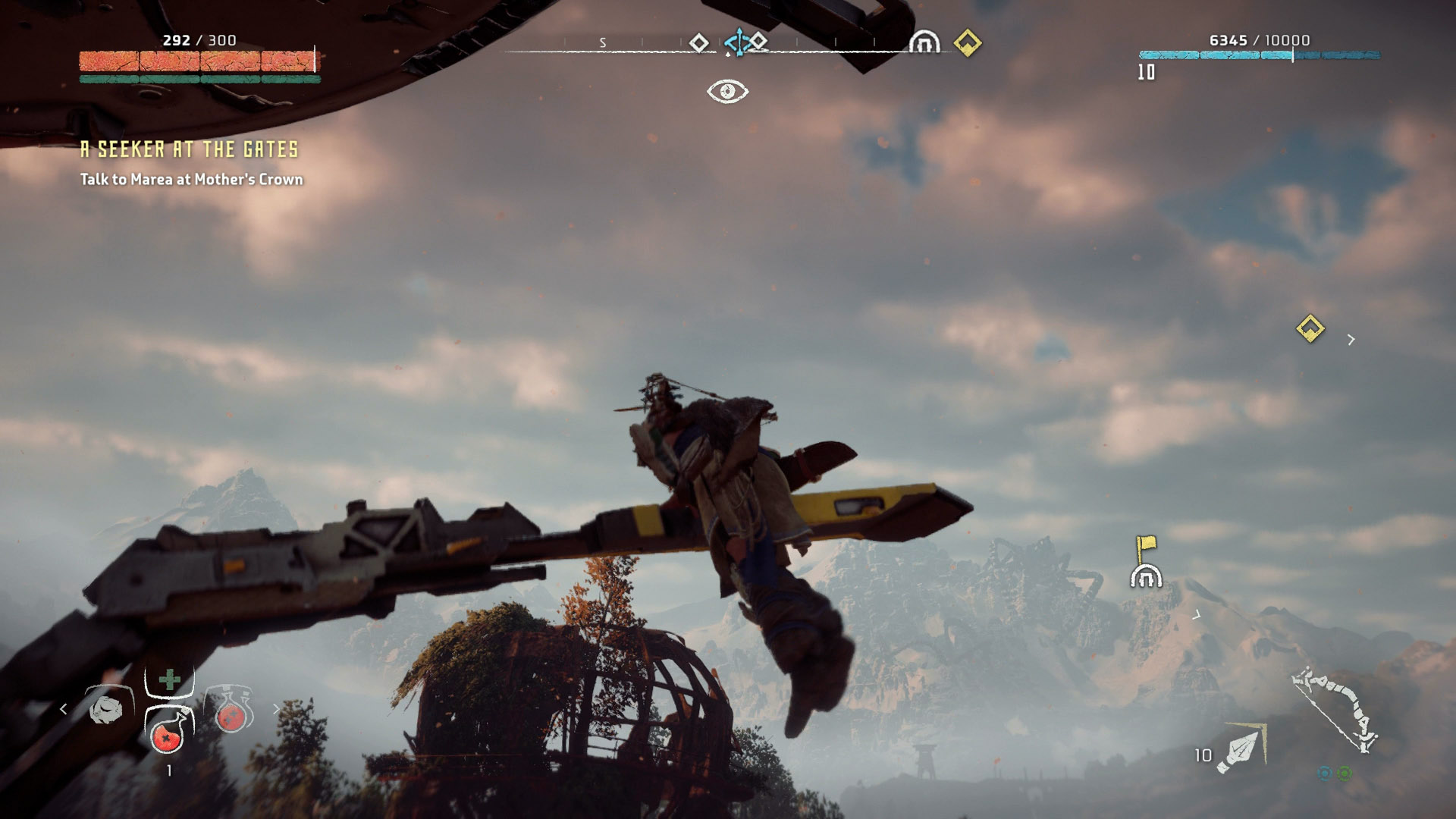 The first Tallneck you come across will be fairly simple to climb, just be careful not to fall off!