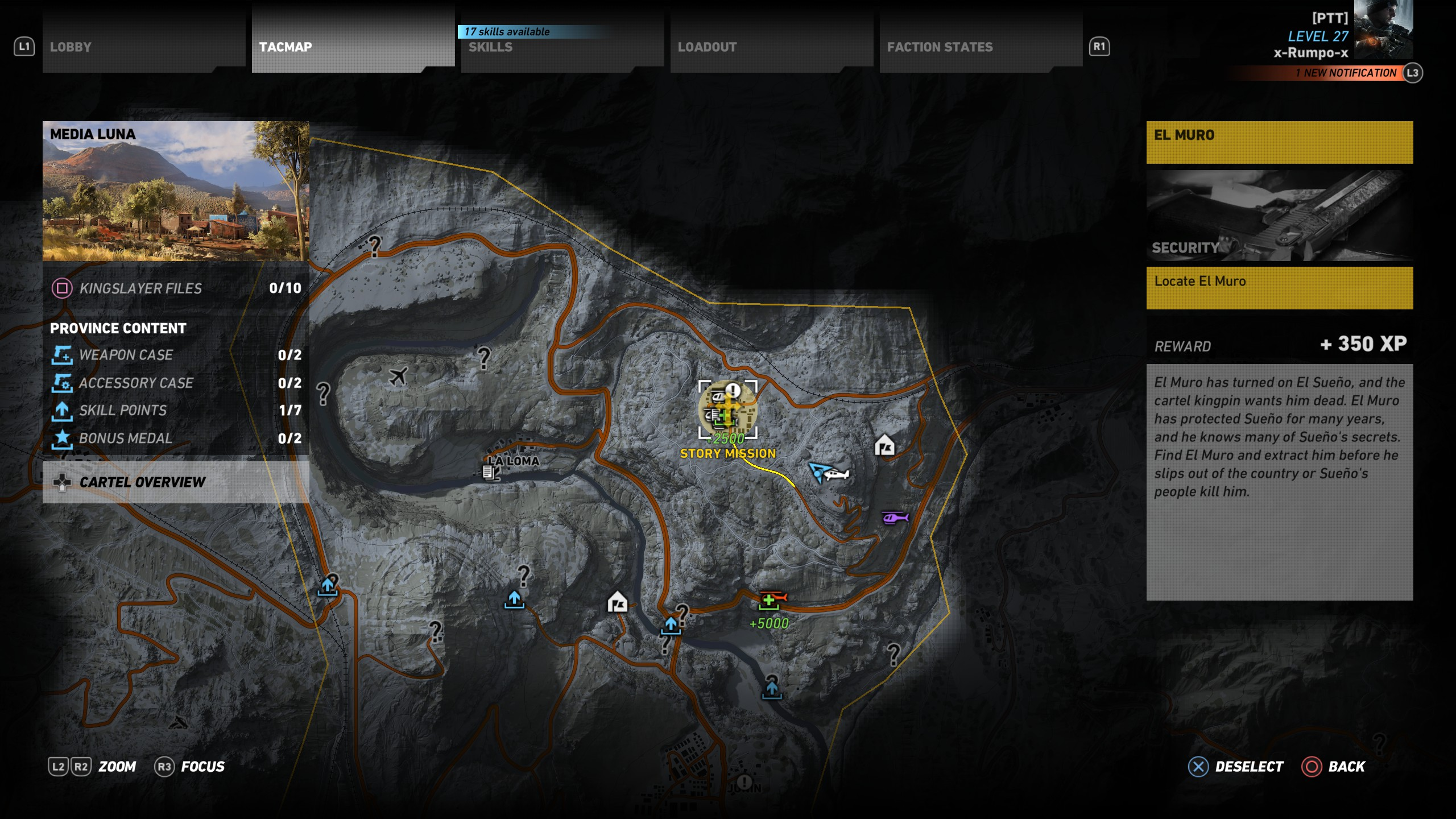 This is the location of El Muro in Ghost Recon Wildlands