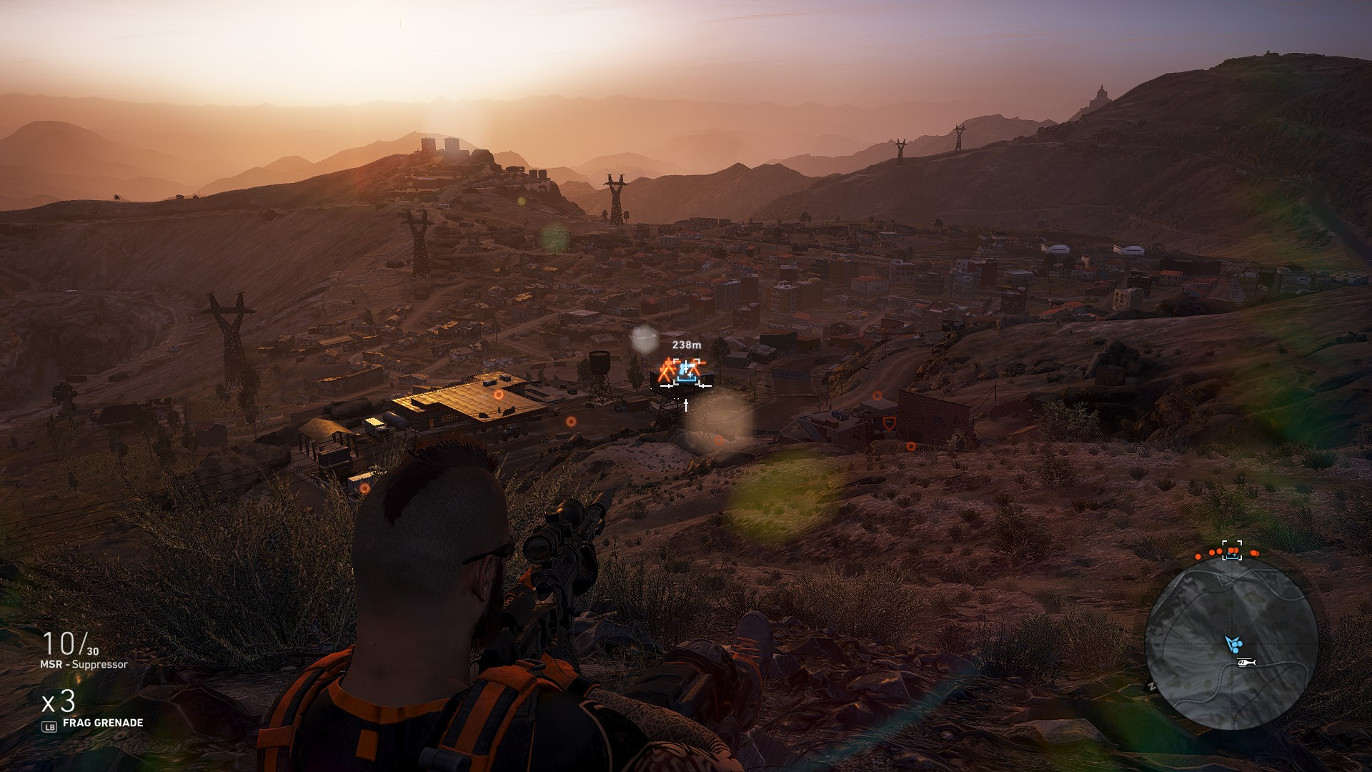 Be sure to eliminate the lone guard in the tower guarding the MP7 in Ghost Recon Wildlands