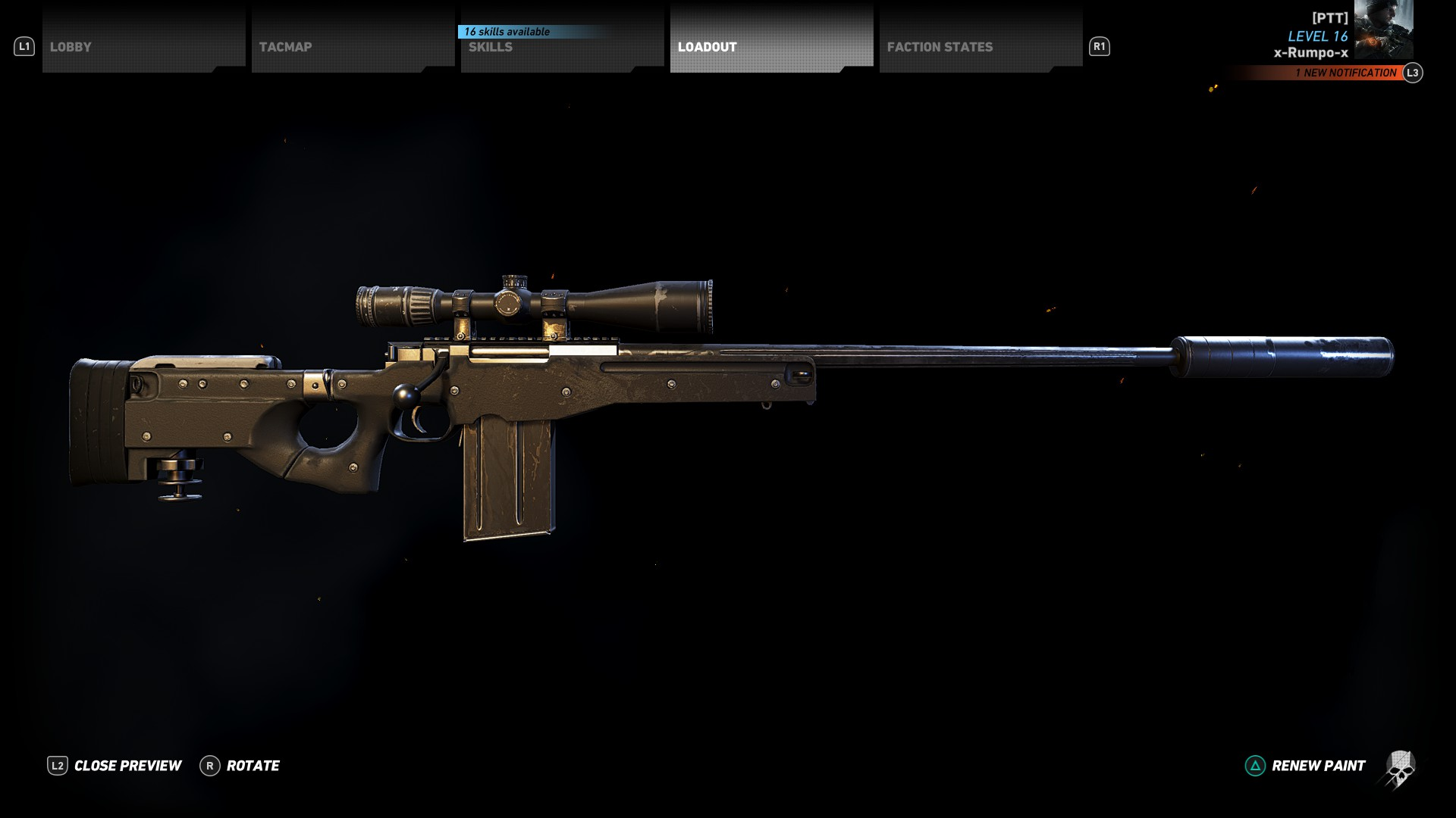 A closer look at the L115A3 Sniper Rifle in Ghost Recon Wildlands