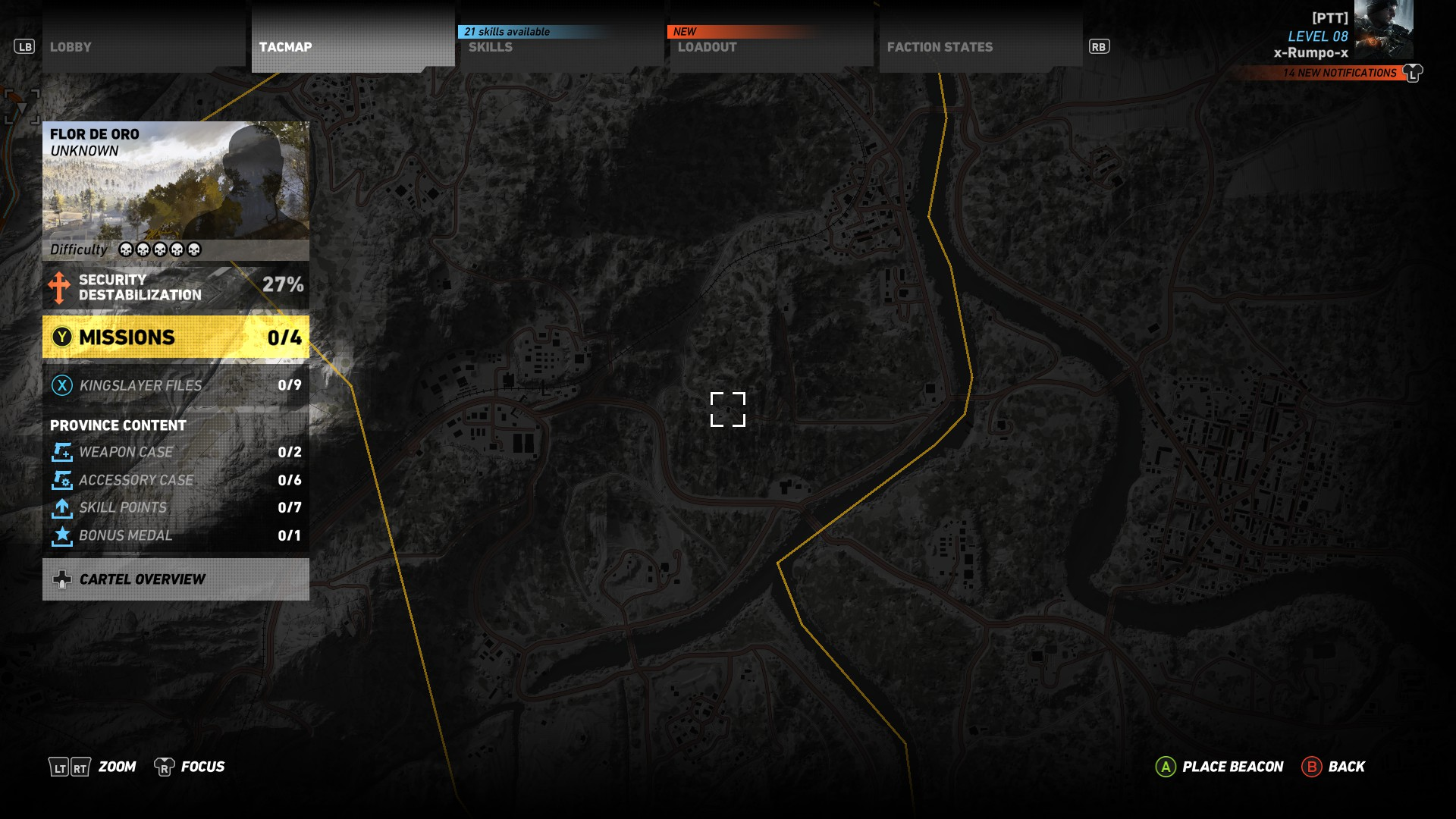 This is the location of the M4A1 in Ghost Recon Wildlands