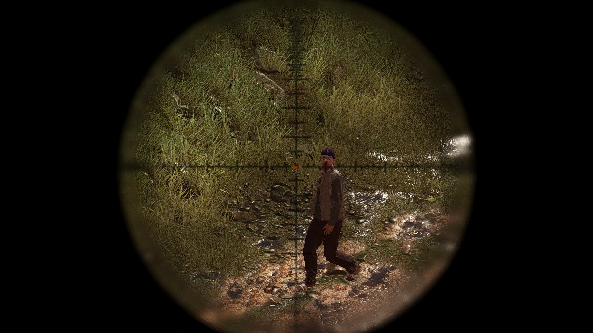 Here's what it looks like when you aim down sight with the T5Xi Tactical in Ghost Recon Wildlands.