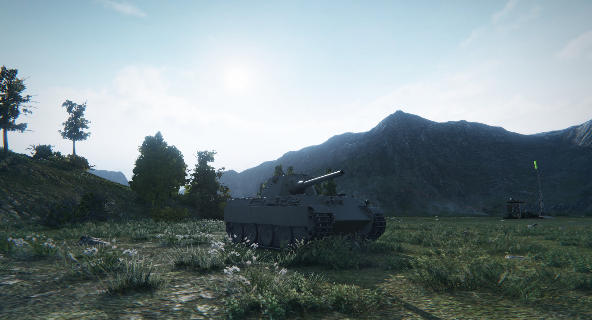 The Panther 8,8 has poor camouflage ratings but makes up for it with its high RoF and gun dispersion.