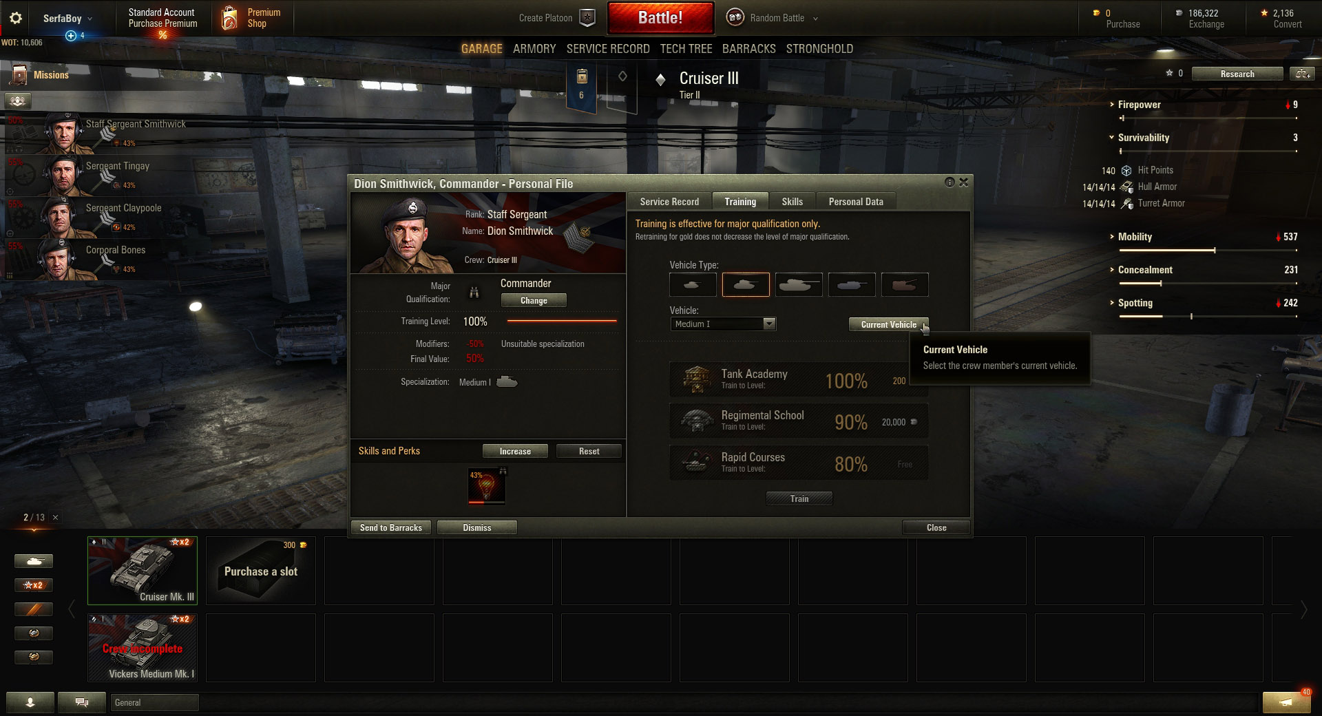 Wot Training Room For New Tank