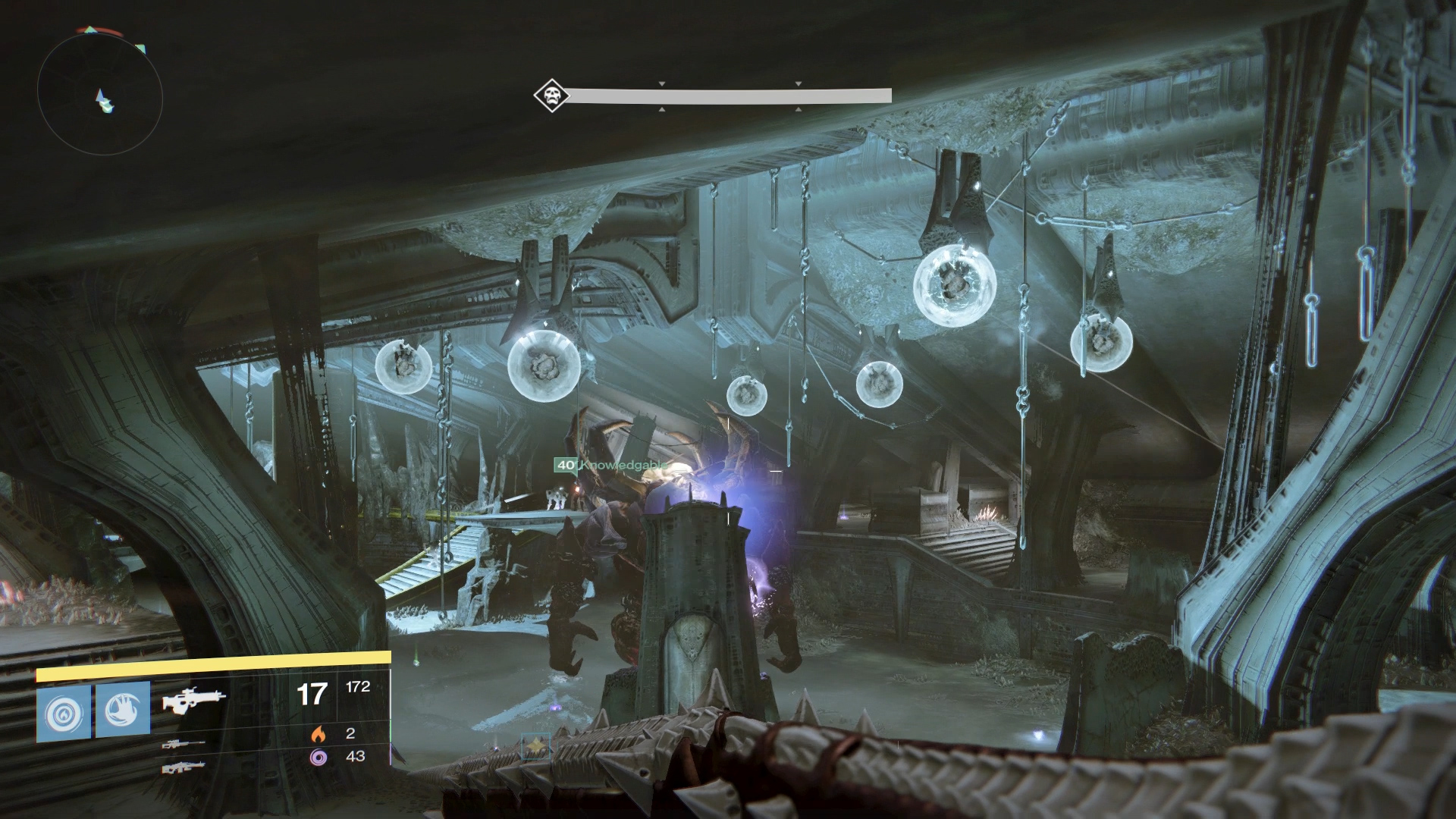 Having a player distract Golgoroth can help him turn around, allowing you easy access to his back - the part you must shoot to capture his Gaze.
