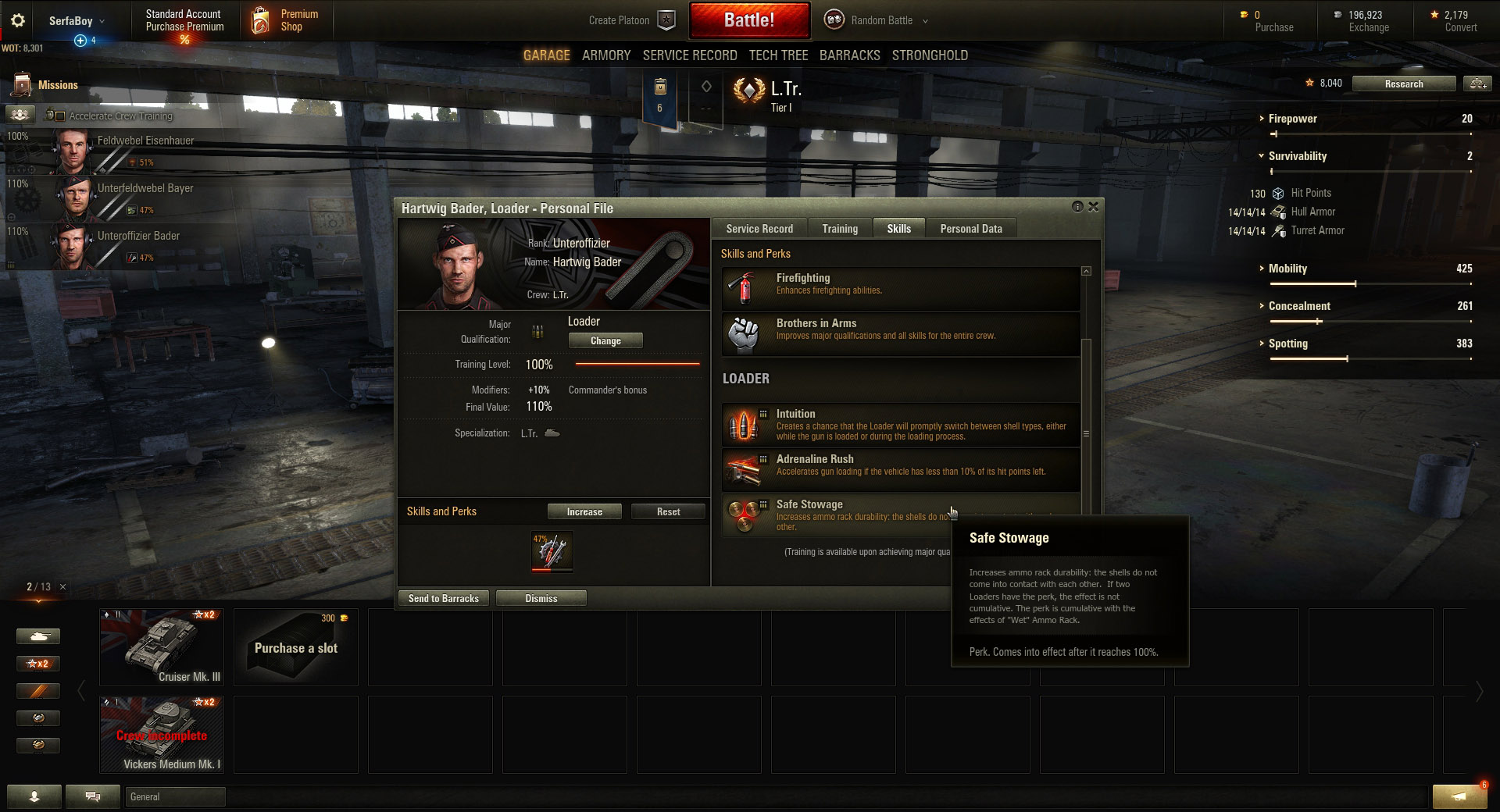 what skills to train first in world of tanks tank war room safe stowage is one of the few good loader specific skills worth training