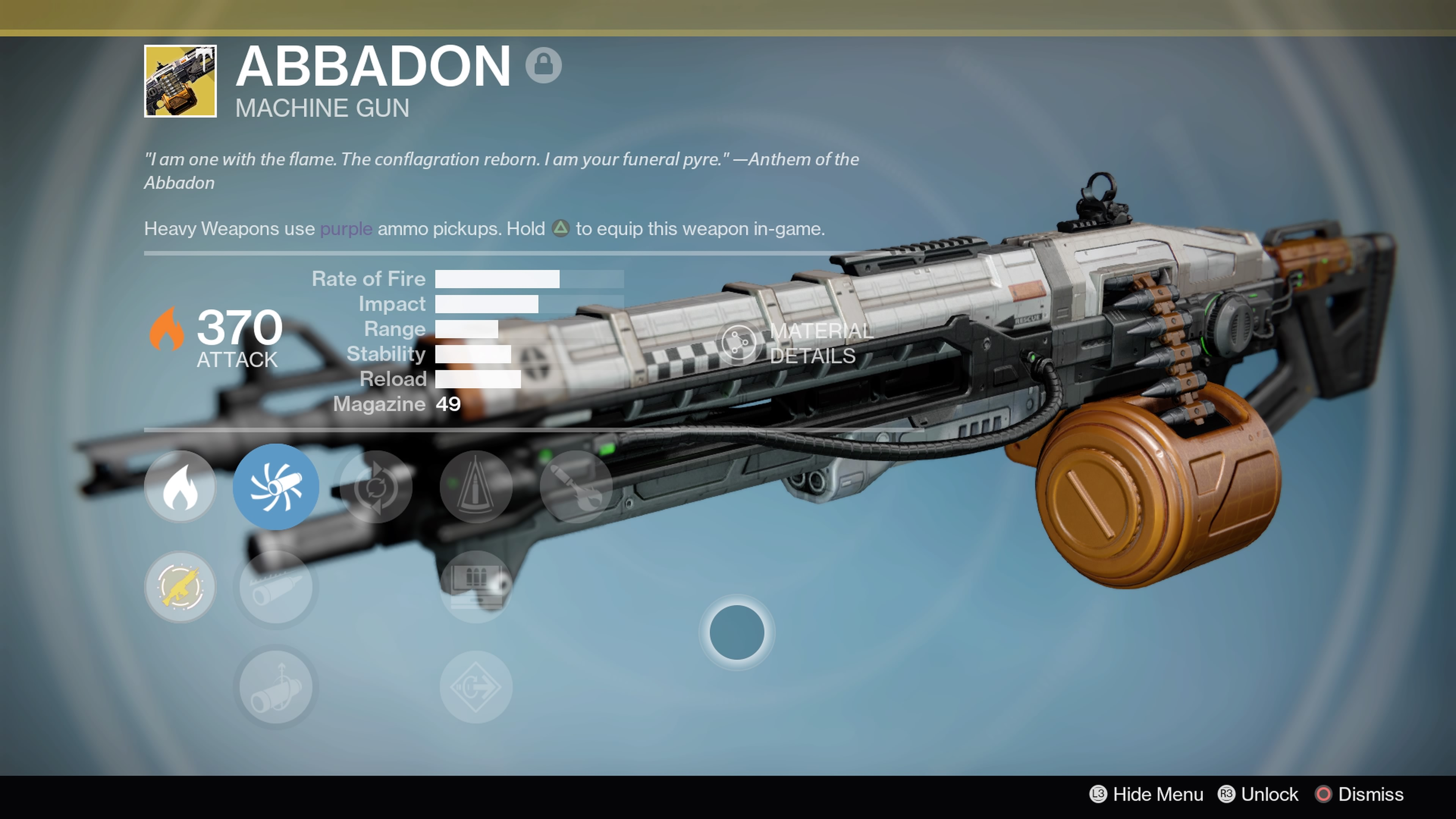 Here's a look at the Abbadon Exotic Heavy Weapon in Destiny