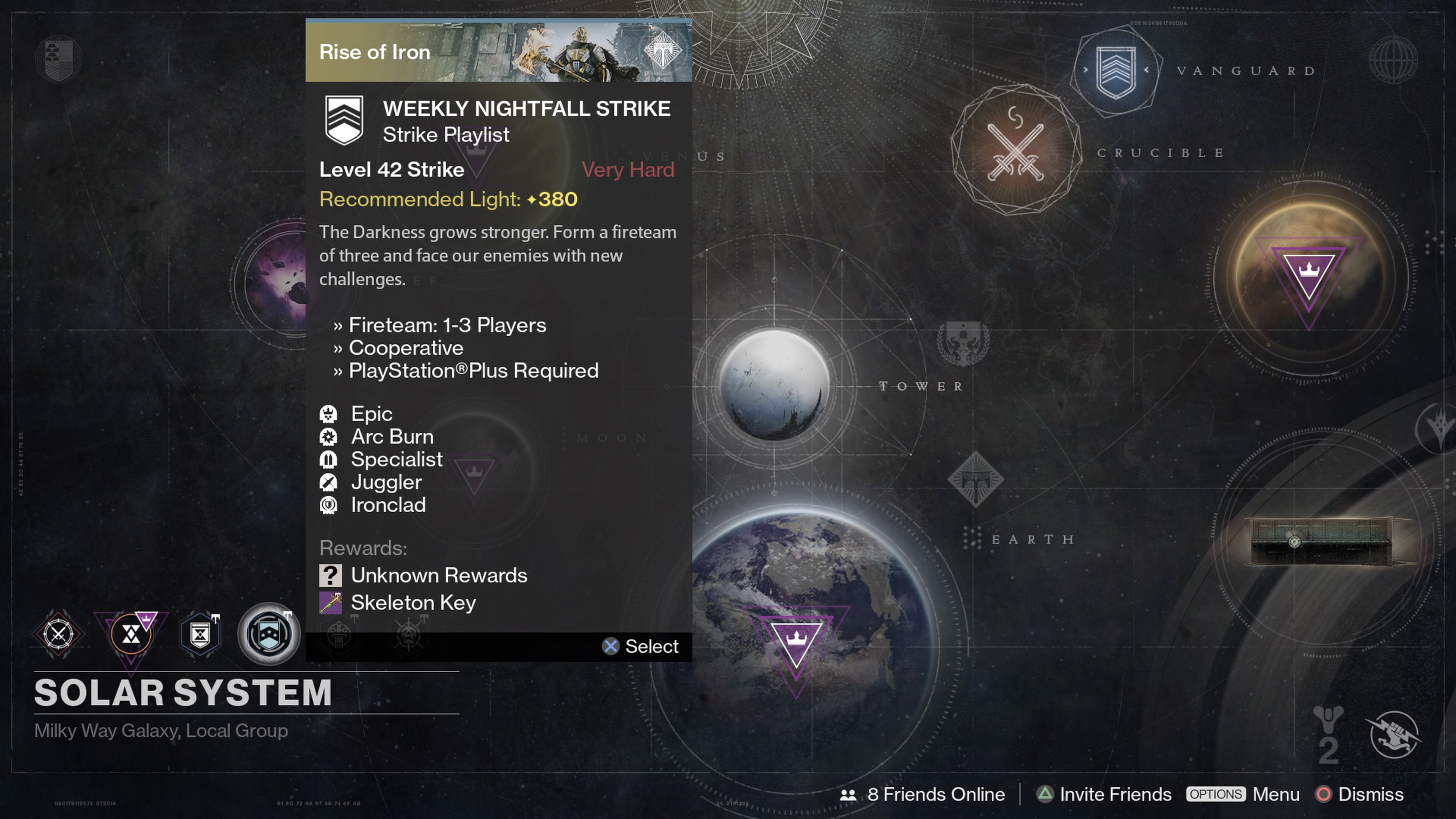 Grab three friends and form a Fireteam of three to complete the Weekly Nightfall Strike