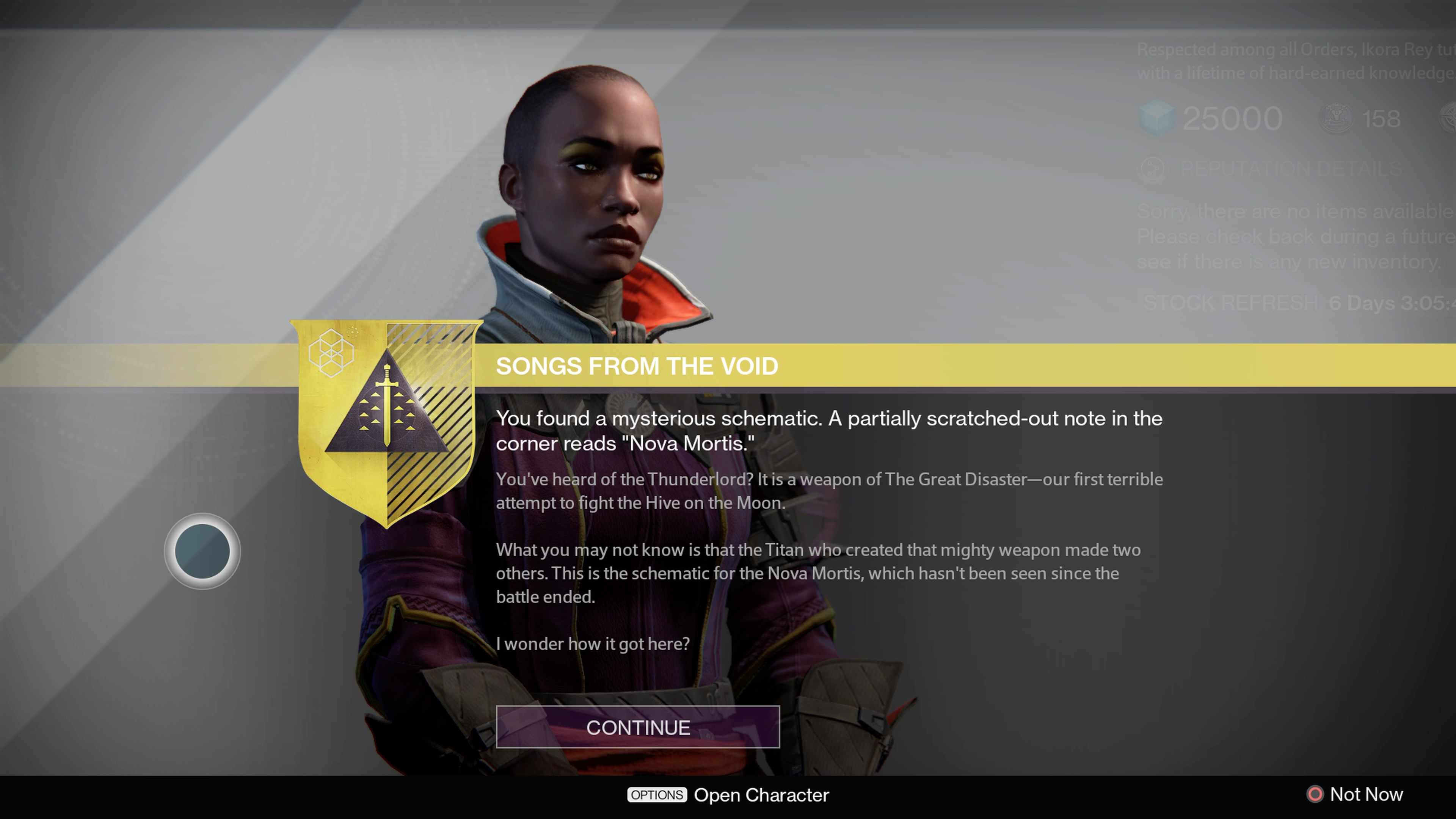 After you get the Exotic Quest, talk to Ikora Rey to begin