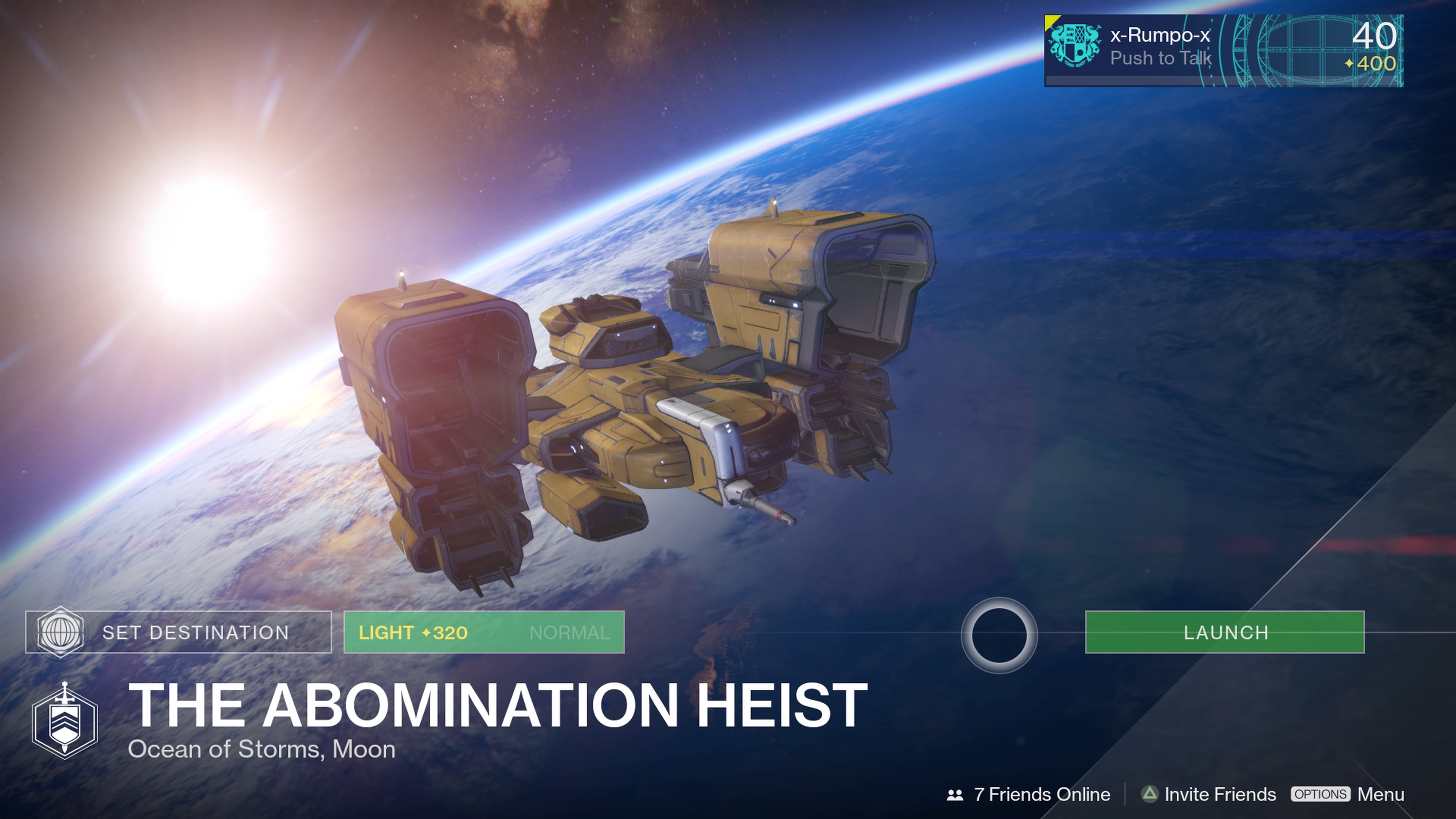 Complete the Abomination Heist Strike to unlock the Nova Mortis