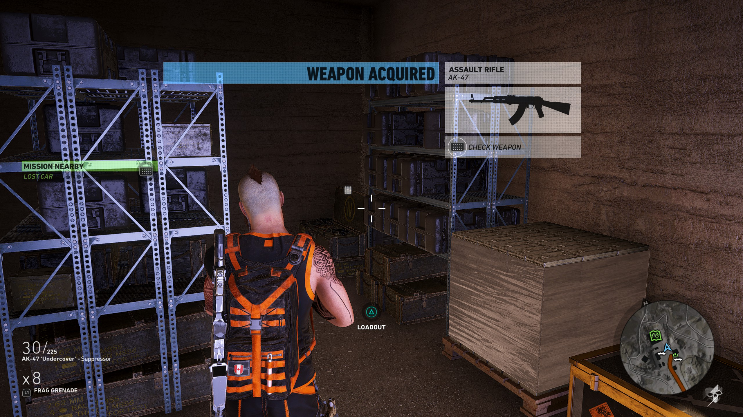 Clear out the Unidad troops and grab the AK 47 from the Weapon Case