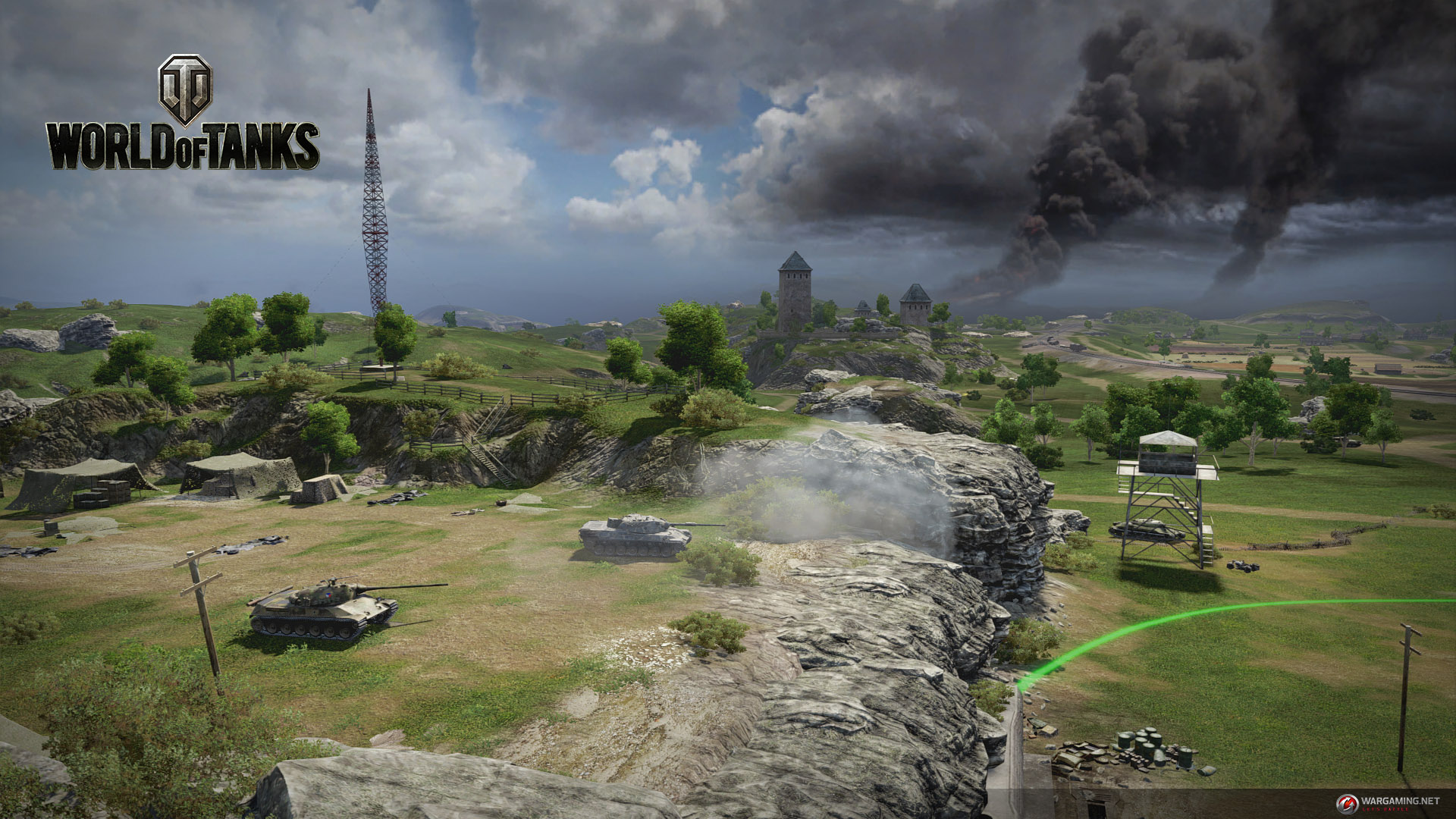 Screen capture from World of Tanks Frontline, a joint effort between Wargaming and Bongfish.