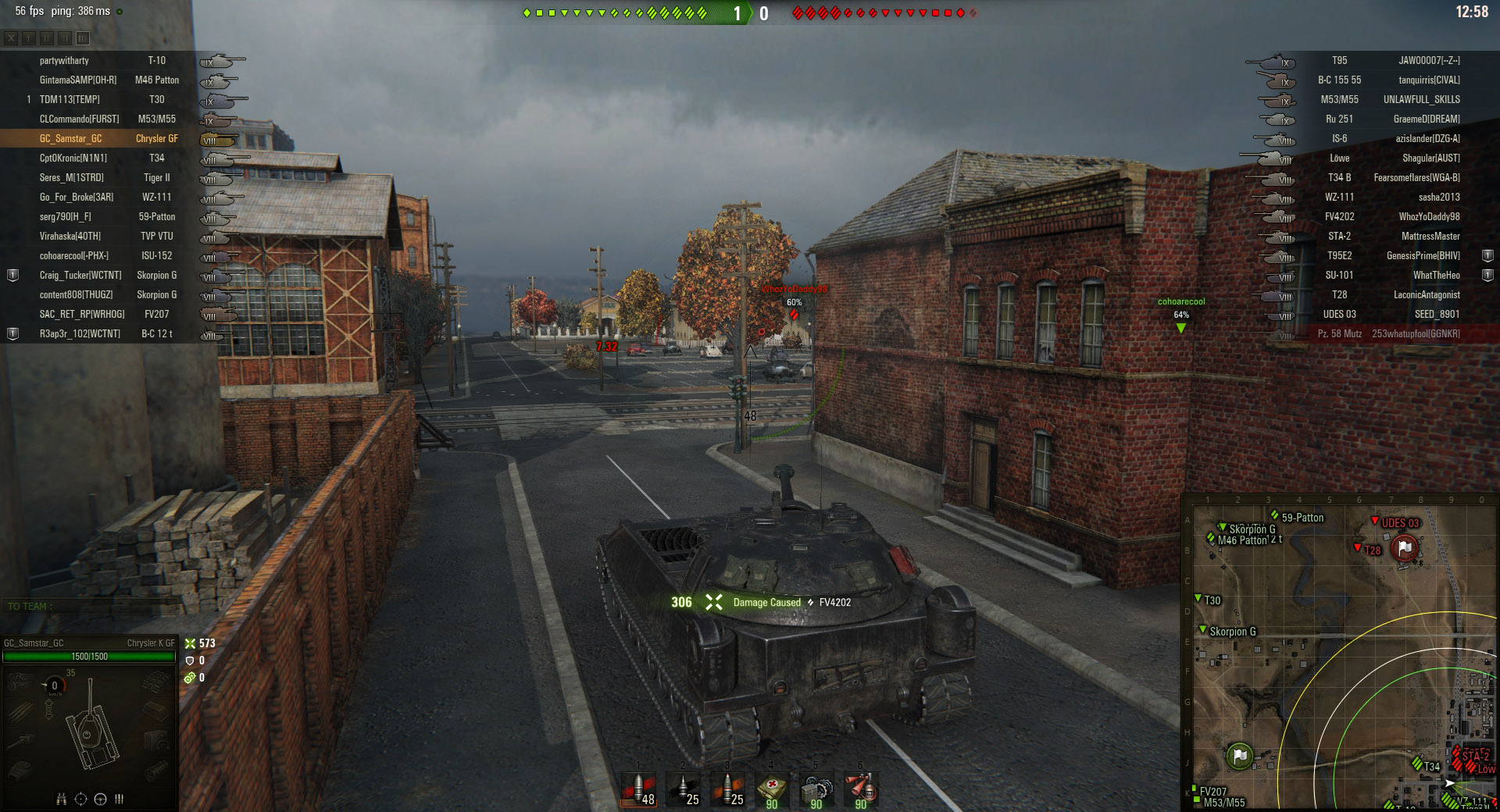 Despite suffering from poor penetration values, the AP rounds on the Chrysler will still be able to damage enemy tanks.
