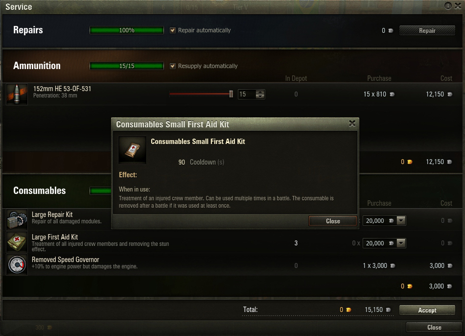 The Small First Aid Kit requires more attention to detail than other consumables in World of Tanks.