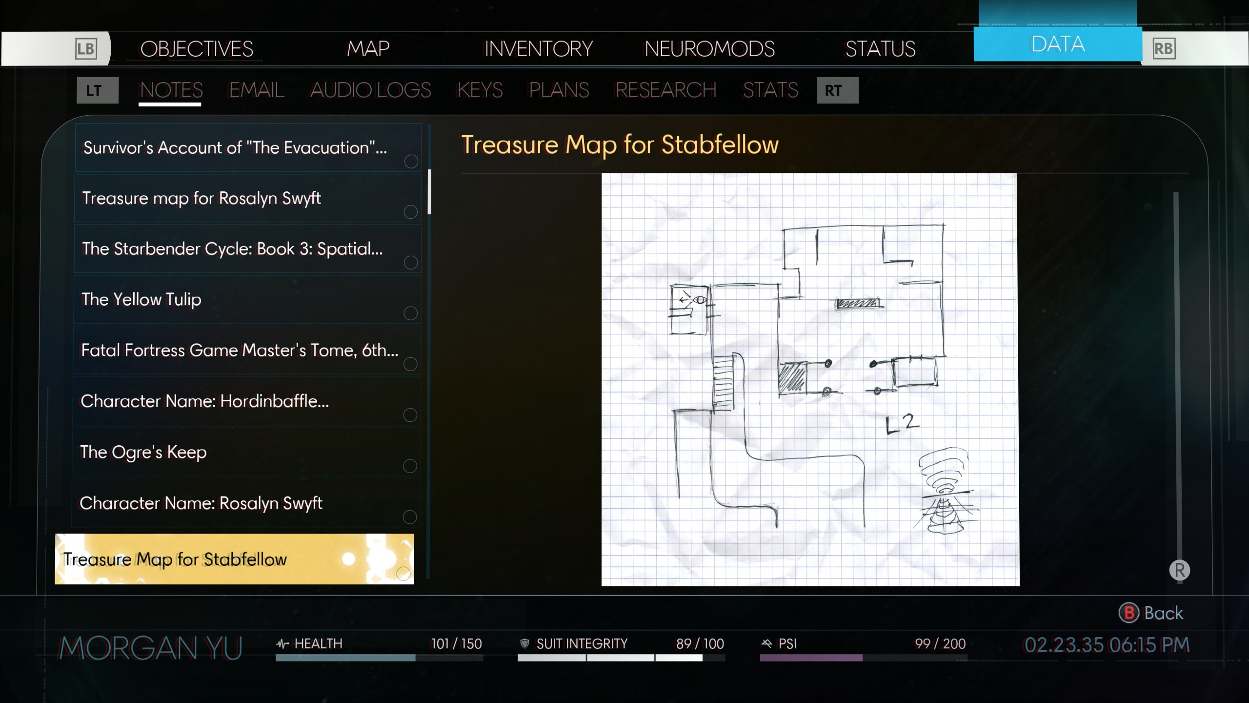 Elias Black's Treasure Map will also be labeled as Stabfellow when you find it.