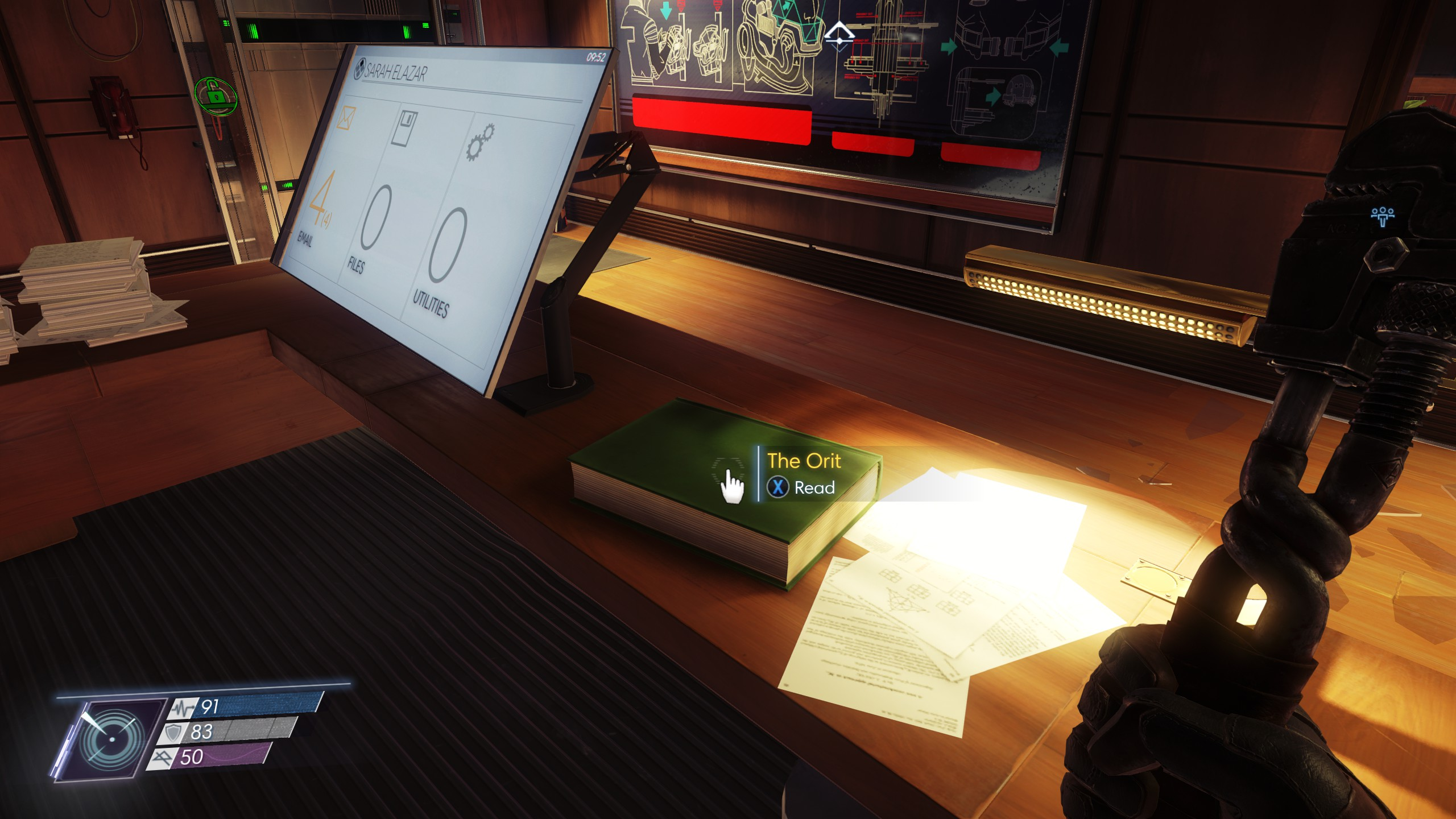 You'll find The Orit on the same desk where you located the Shotgun.