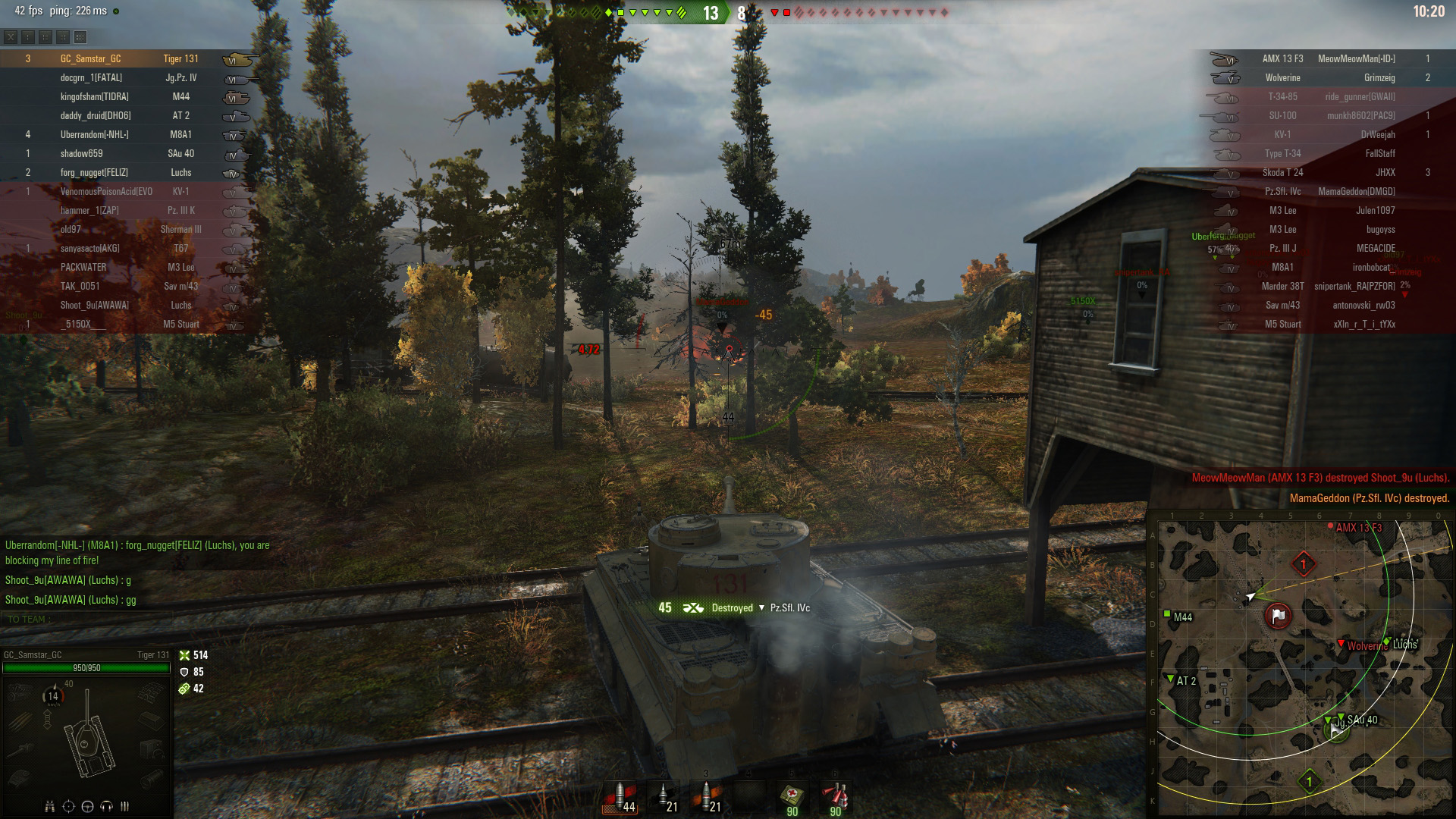 The Tiger 131 excels at mopping up weak enemies, so avoid its high alpha damage gun.