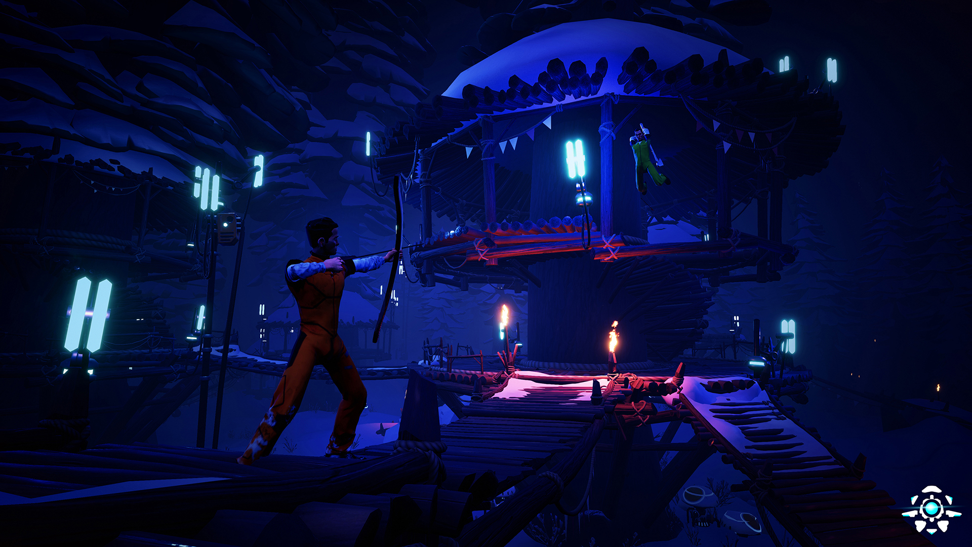 The Darwin Project features a player-controlled Show Director who can influence the outcome of a match.