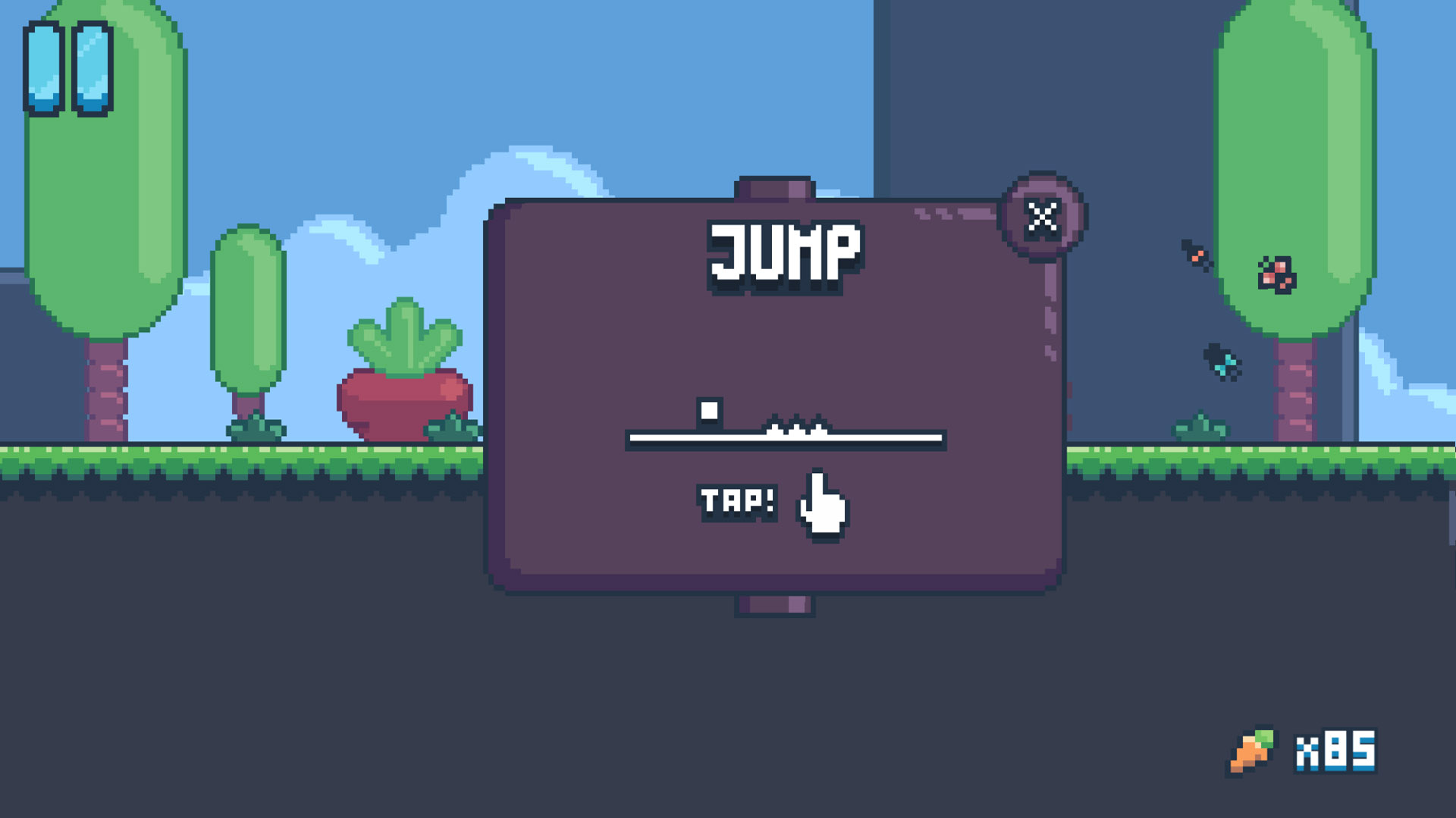 In Yeah Bunny, you jump simply by tapping the screen.