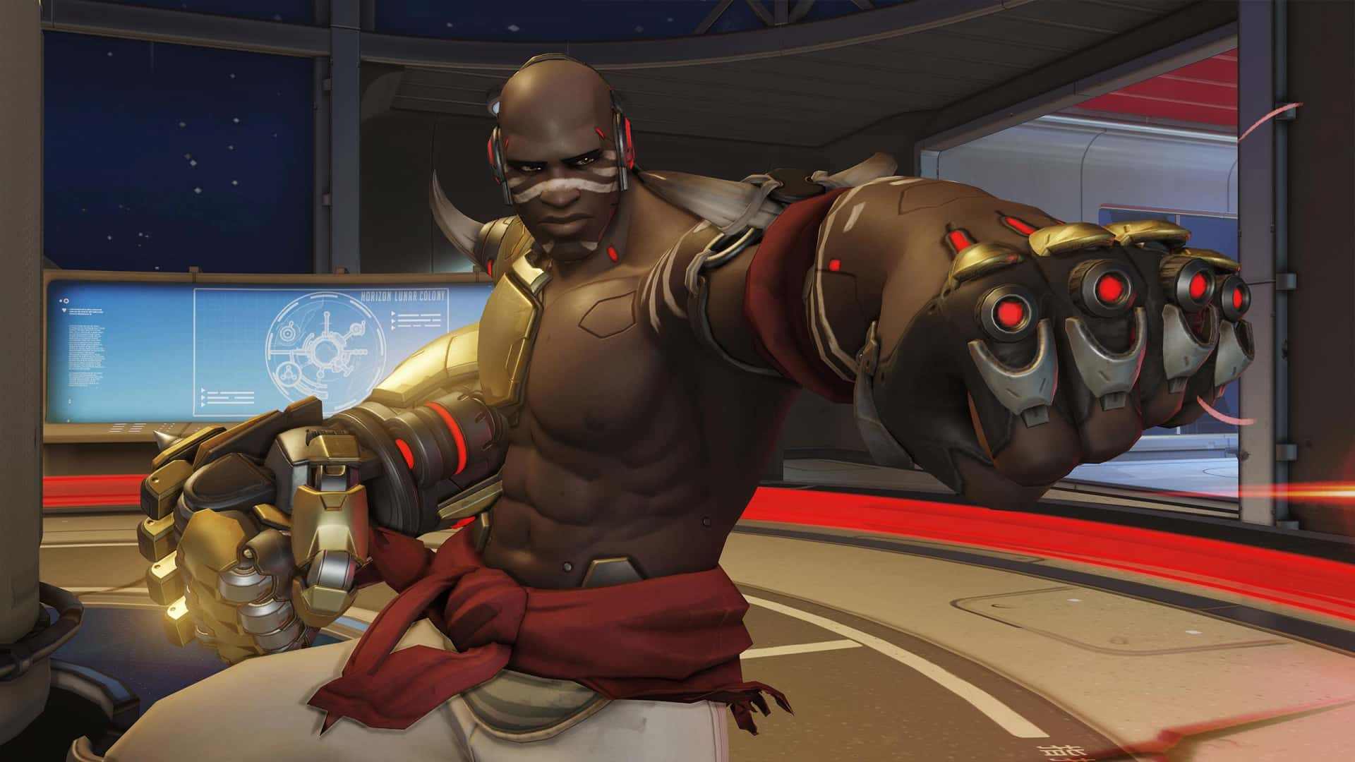 Doomfist's Ultimate is called the Meteor Strike, which sees him shoot up into the sky before slamming back down on his opponents.