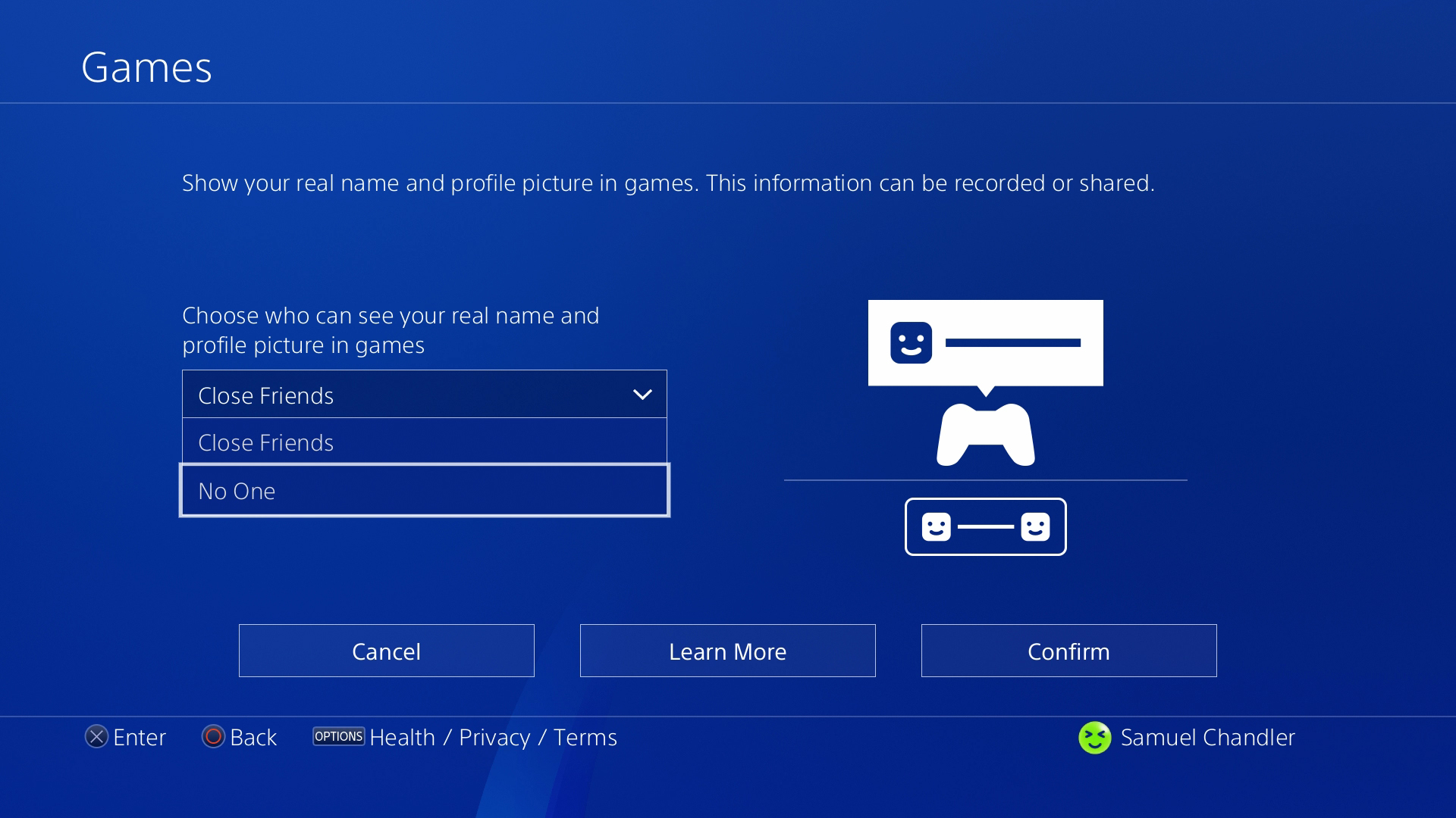 People online don't need to see your real name, so go ahead and hide it to improve your PSN security.