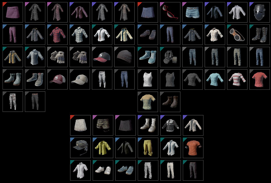 These are a few of the clothing items that you can buy and sell on the Steam Market, which can in turn be recycled for Battle Points.