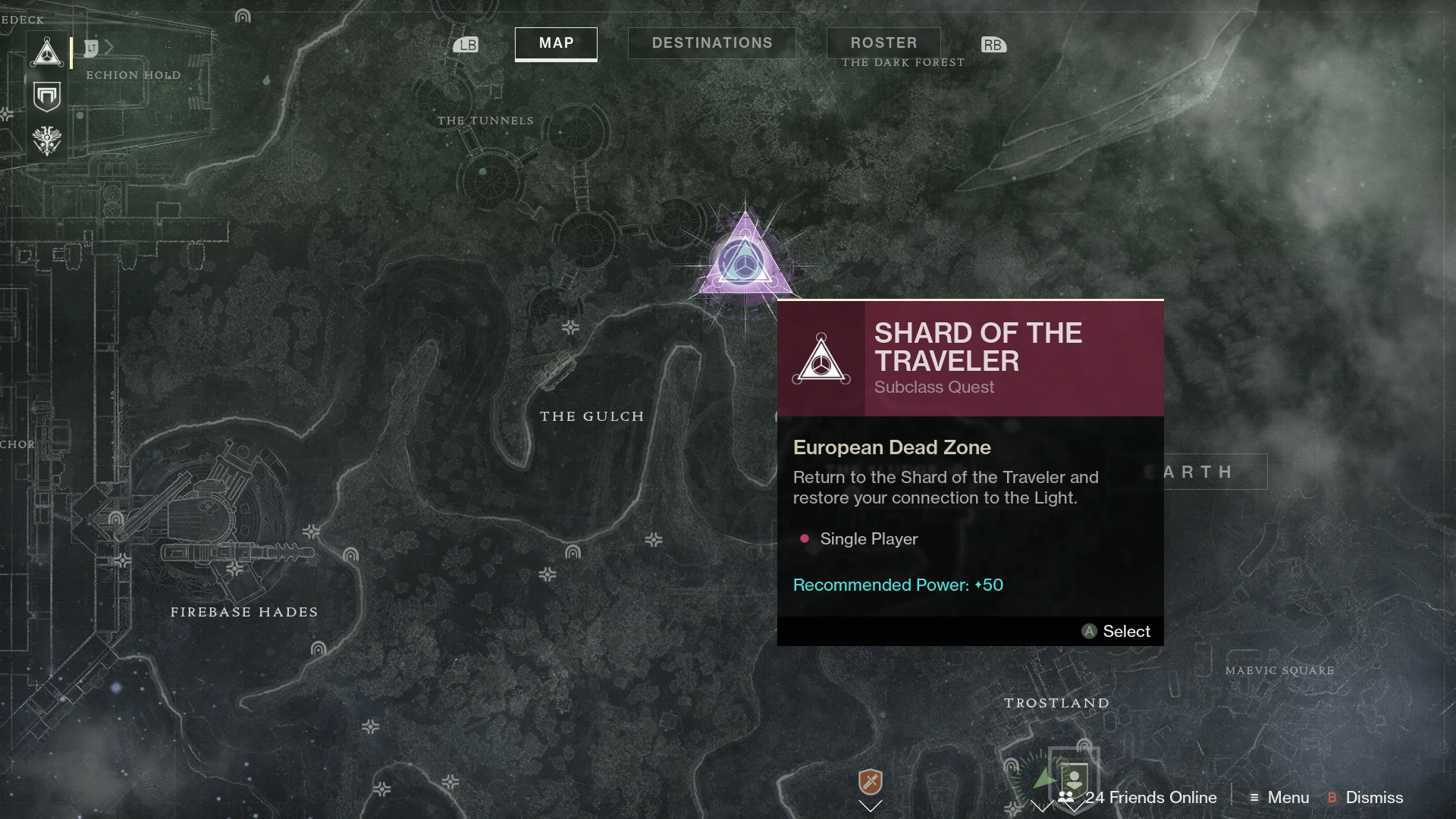 A new mission will appear on your map when the Quest Item is charged.