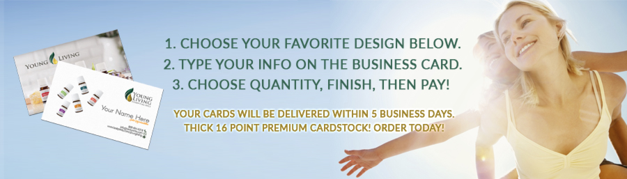 Young living business cards free shipping over 50 delivered in young living business cards reheart Choice Image