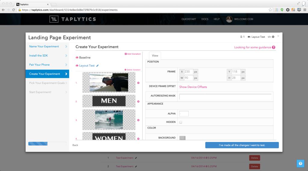 Taplytics Visual Editor