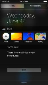 Widgets on iOS 8 and iPhone 6