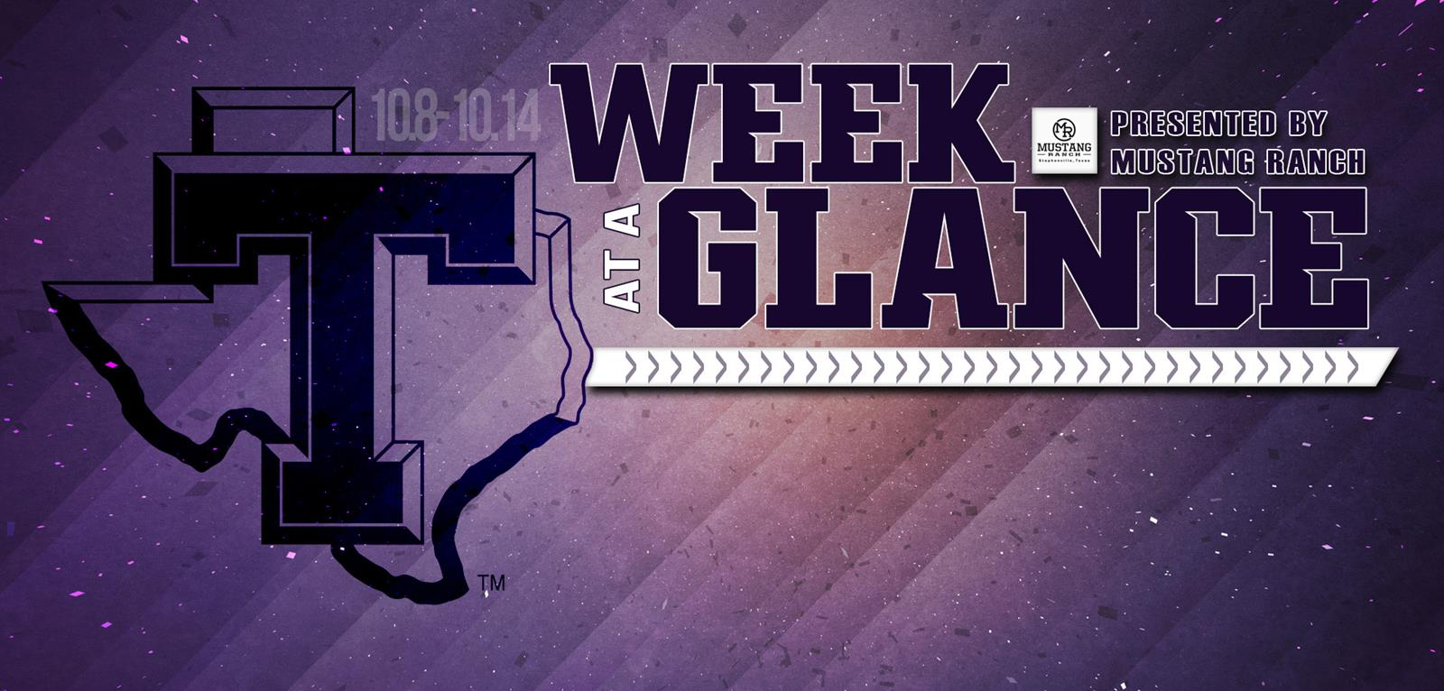 week at a glance tarleton on collision course for commerce in high octane weekend