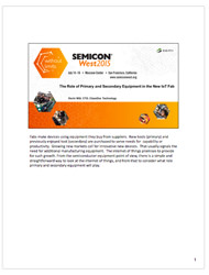 Kevin Witt Presentation, Semicon West 2015