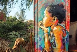 "جداريات ""جرافيتي"" جديده للفنان C15"