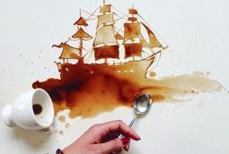 فنانة إيطالية تحول الطعام المنسكب الى أعمال فنية مبدعة