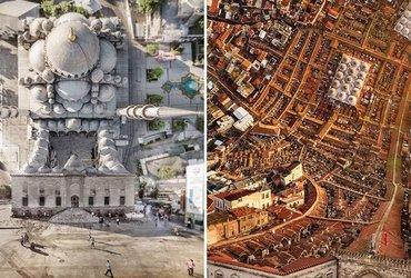 """فنان يحول صوره لمدينة اسطنبول إلى صور شبيهة بفيلم """"إنسبشن"""""""