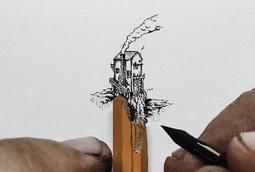 رسومات صغيرة جدا بقلم الحبر لكريستيان واتسون