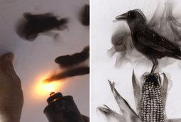 لوحات اللهب للفنان ستيفن سبازوك