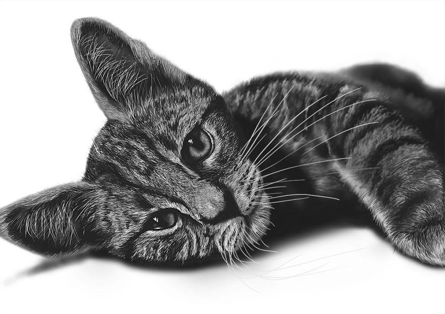رسم واقعي باستخدام الفتوشوب لقطة