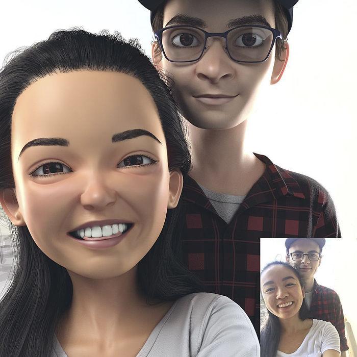فن تحويل صور الاشخاص الى شخصيات كرتون بتقنية الـ 3D