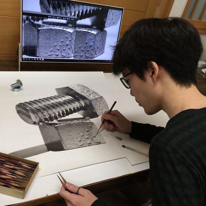 رسومات من فنان ياباني لن تصدق انها رسمت باليد