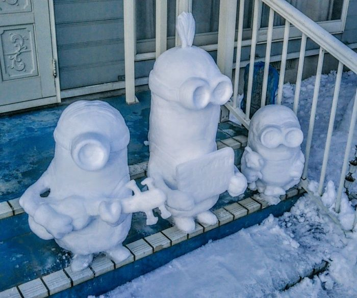 كيف يحتفل الفنانون في مدينة توكيو بقدوم الزائر الأبيض (الثلج)